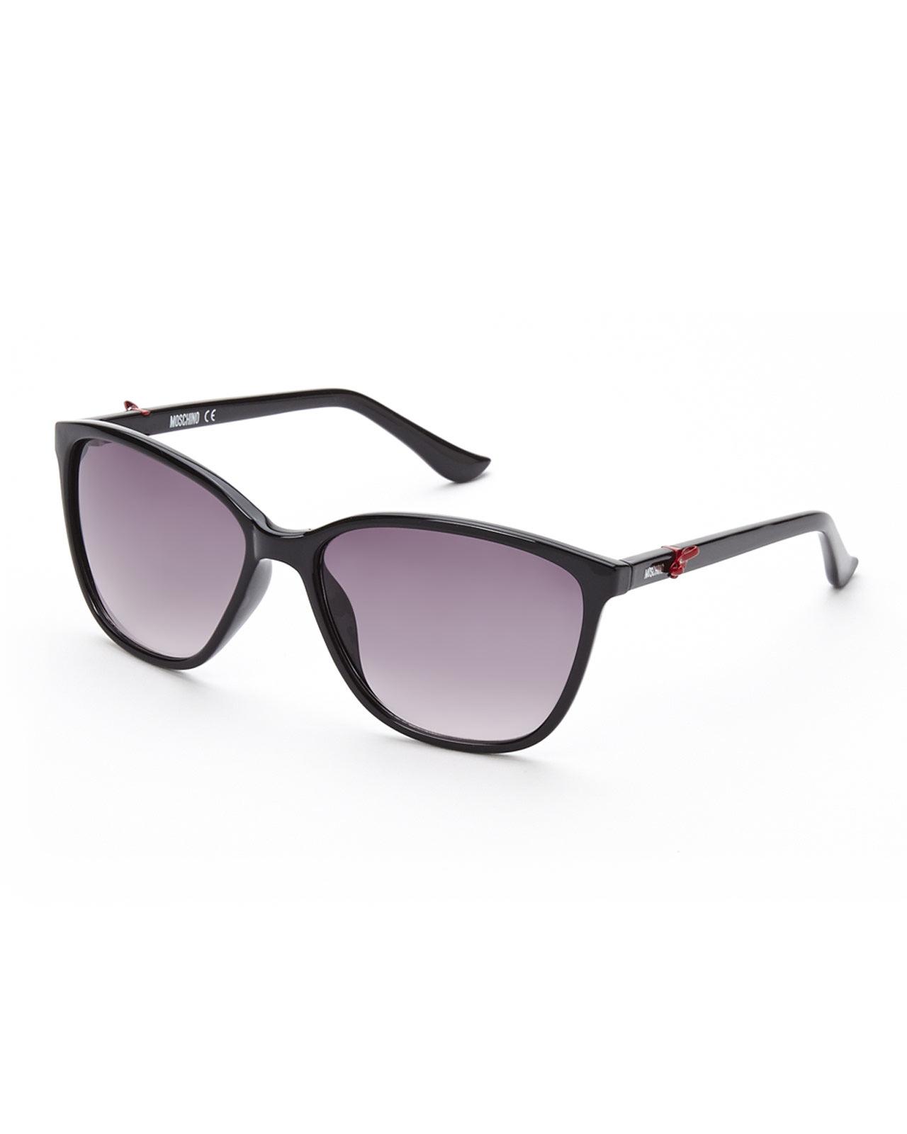 d0ad38269cc Lyst - Moschino Mo65004S Black Wayfarer Sunglasses in Black