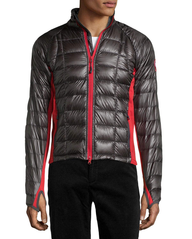 Canada Goose Hybridge Lite Puffer Jacket In Gray For Men