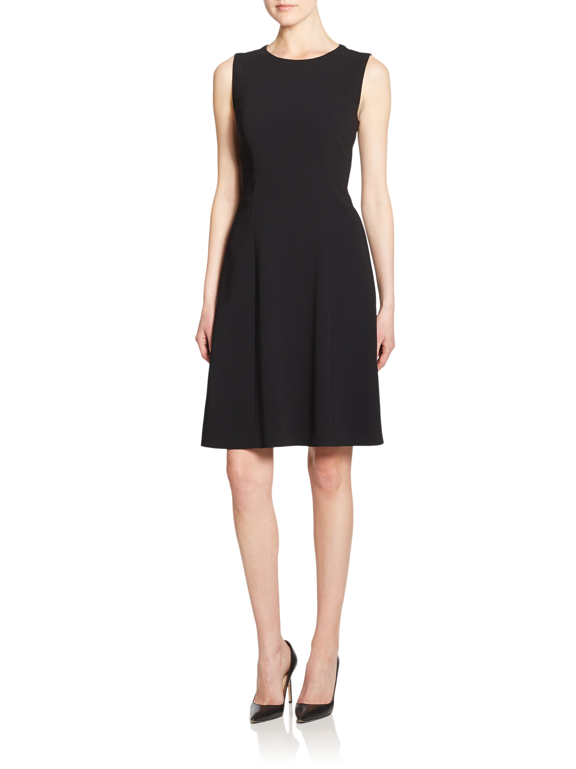Boss Dalyna A-line Dress In Black | Lyst