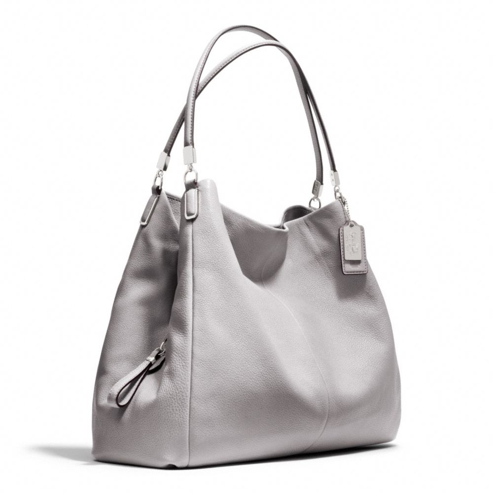 162874ca1a ... italy lyst coach madison leather phoebe shoulder bag in gray e5590 2c2e5