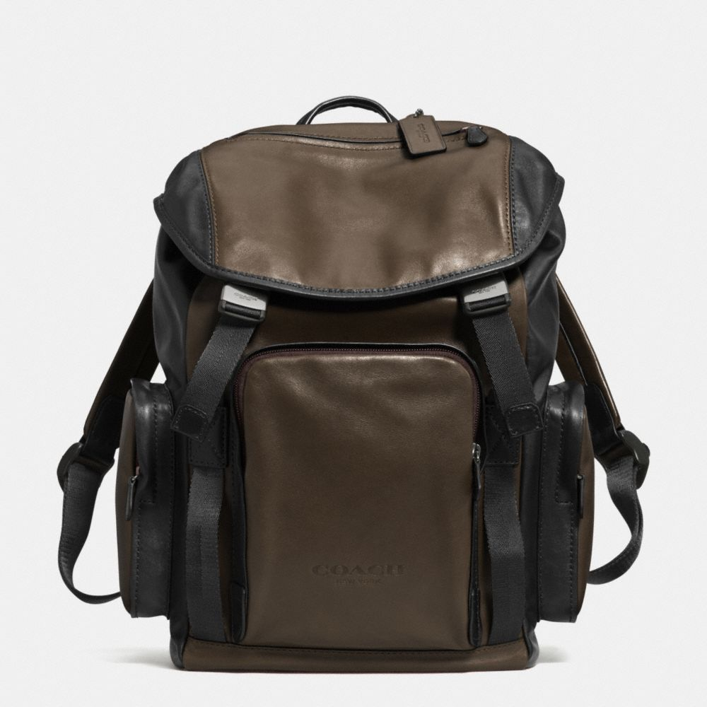 Coach Sport Backpack In Leather Black For Men Lyst