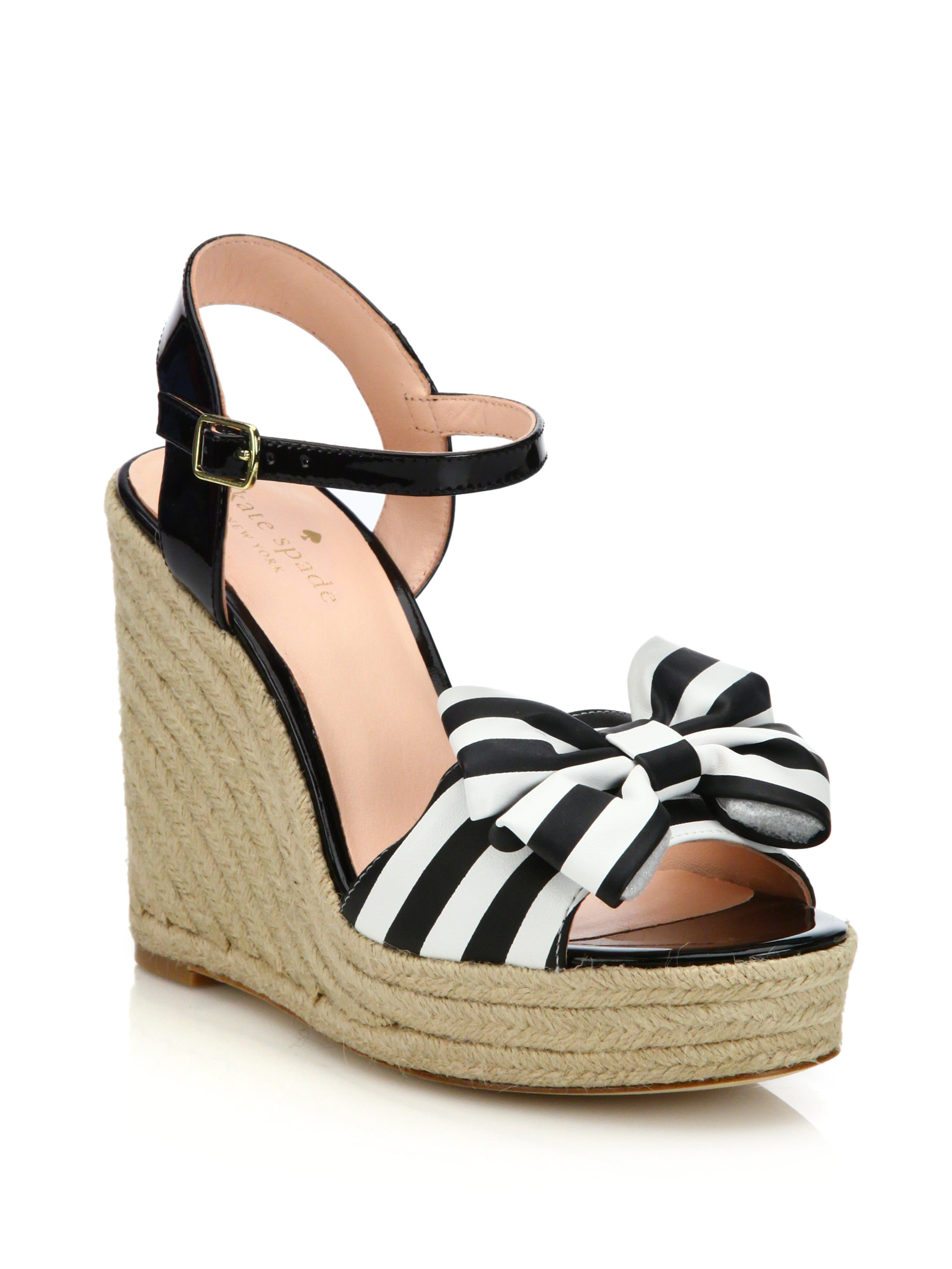 looking for for sale cheap real eastbay Kate Spade New York Bow Espadrille Wedges free shipping manchester great sale nw6DVc