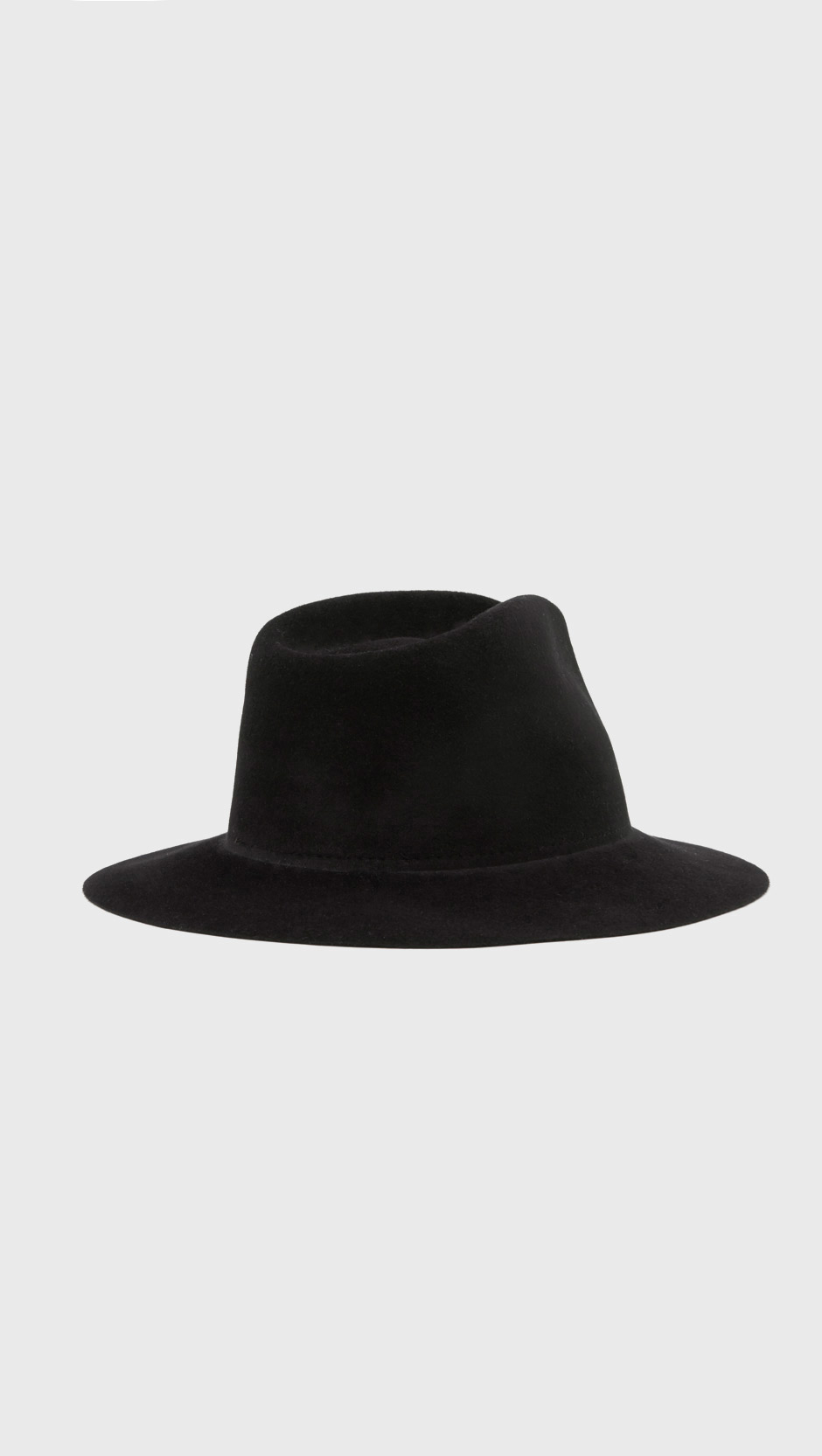257a59ff87d Lyst - Ryan Roche Bare Angora Hat in Black