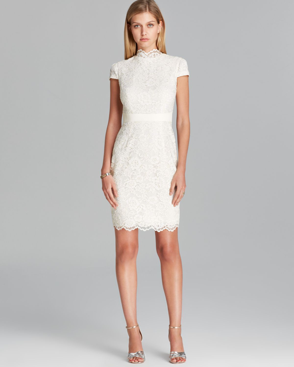 Lyst Cynthia Steffe Dress Nell Corded Lace With Faux