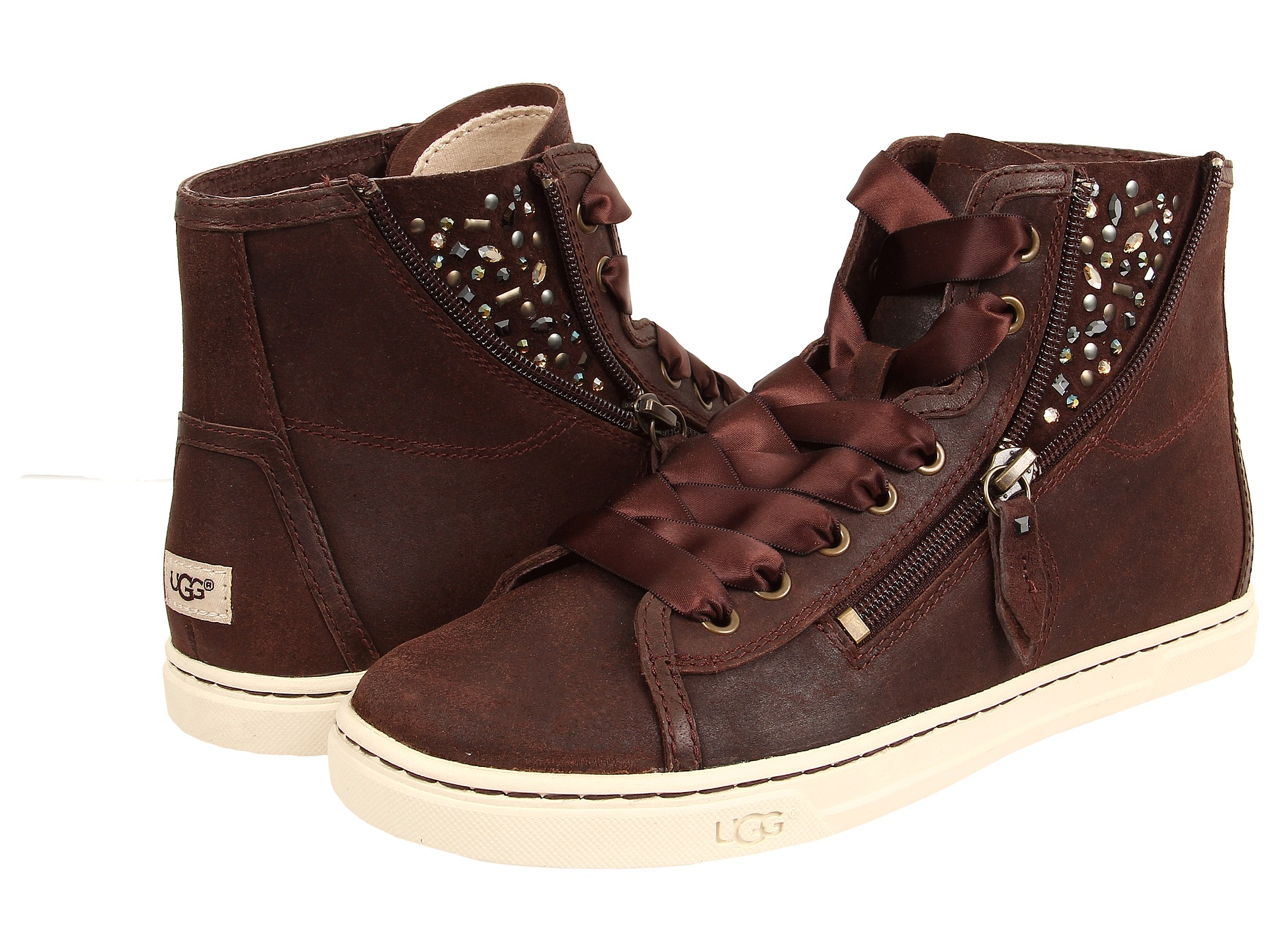 Womens Shoes UGG Blaney Crystals Chocolate Leather