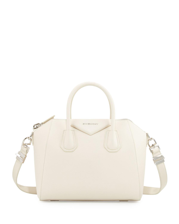 e497cbaac3 Givenchy Antigona Small Sugar Satchel Bag in White - Lyst