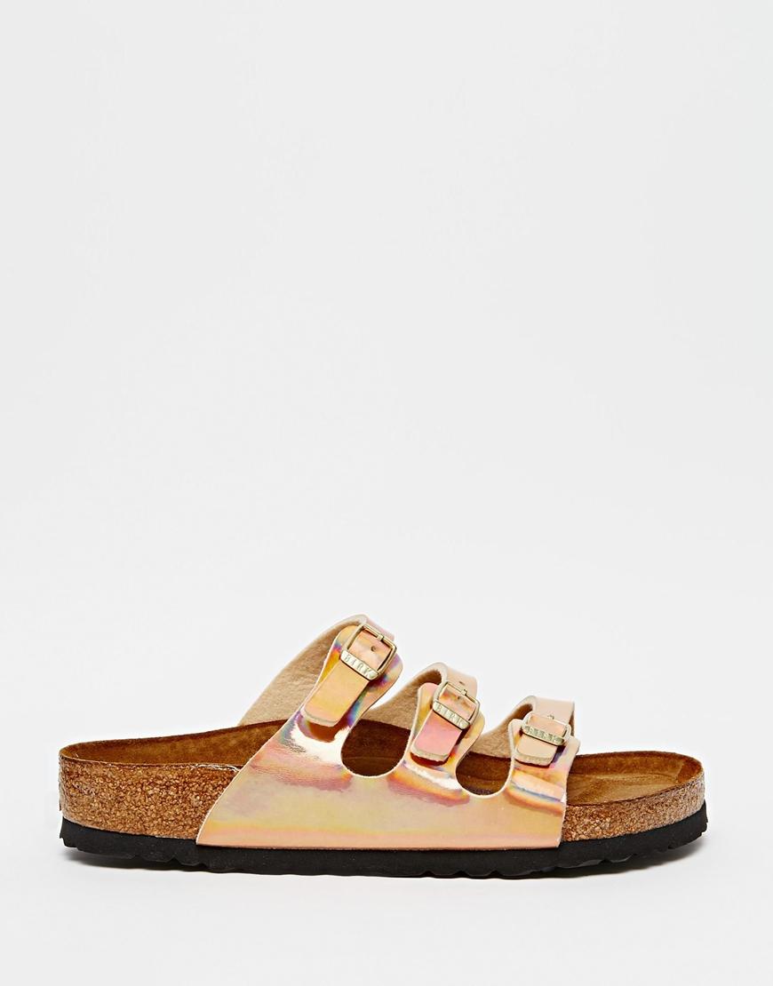 e92a9e62c Birkenstock Florida Triple Strap Copper Regular Fit Flat Sandals in ...