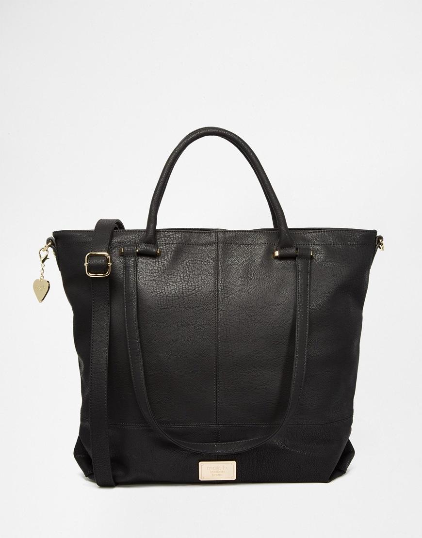 Marc b. Shopper Tote Bag in Black | Lyst