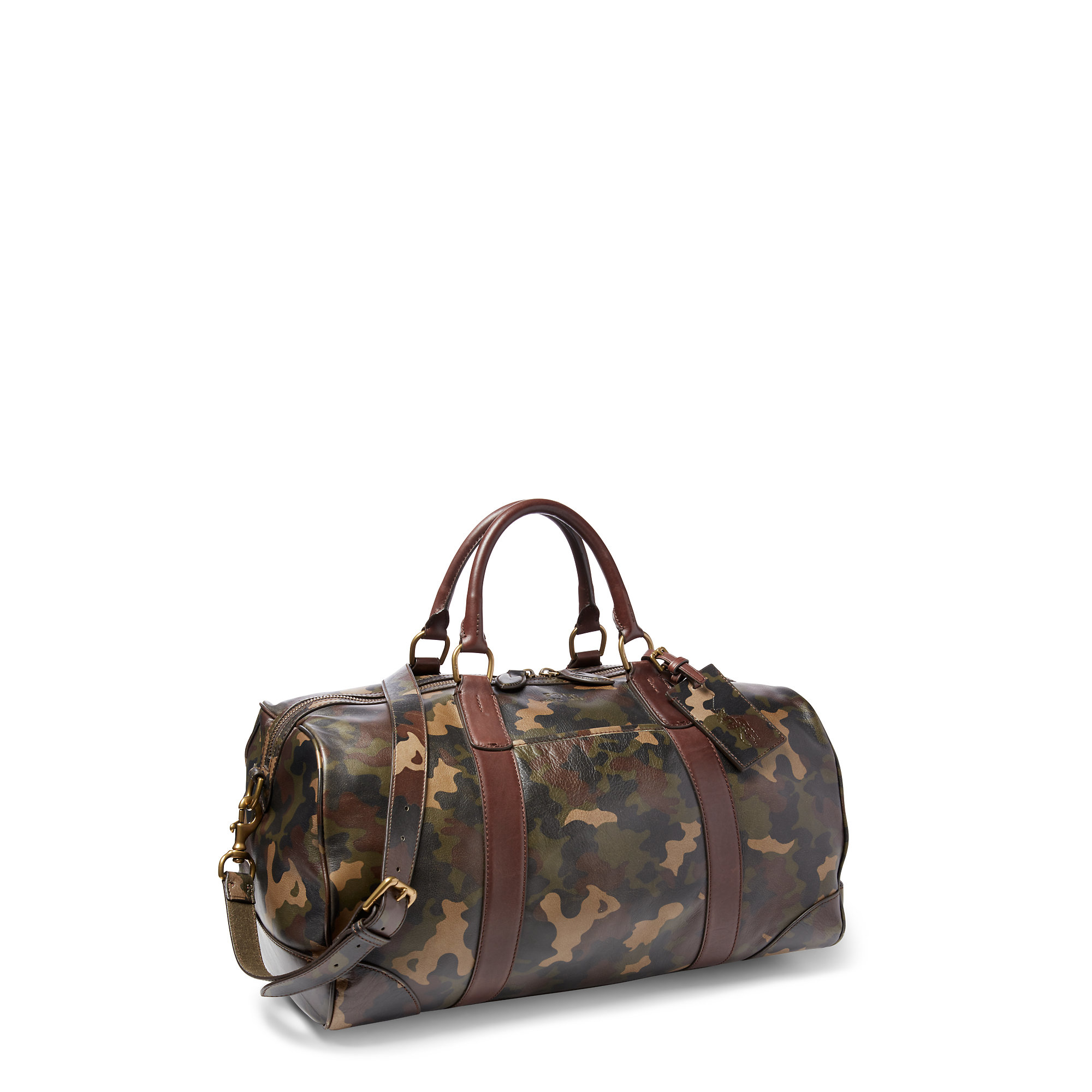 87077f751099 ... germany lyst polo ralph lauren camouflage leather duffel bag in gray  for men 6f1e7 13da5