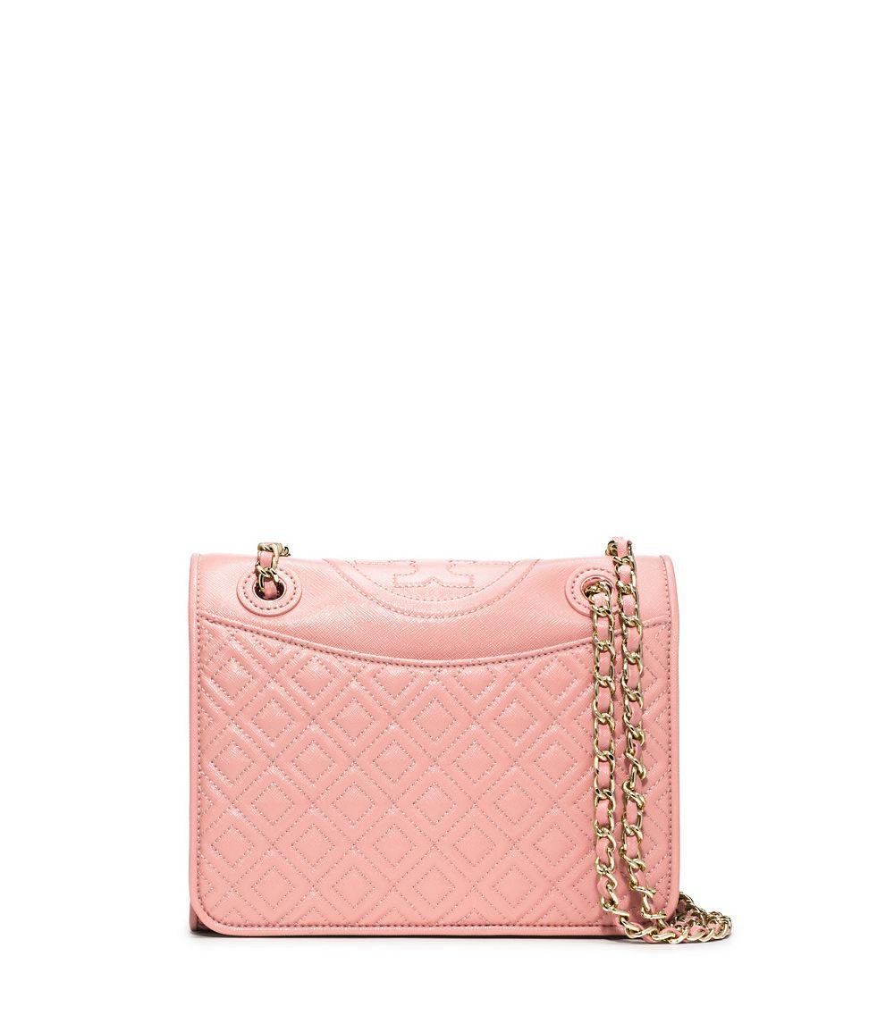196c15a8825 Tory Burch Fleming Patent Medium Bag in Pink - Lyst