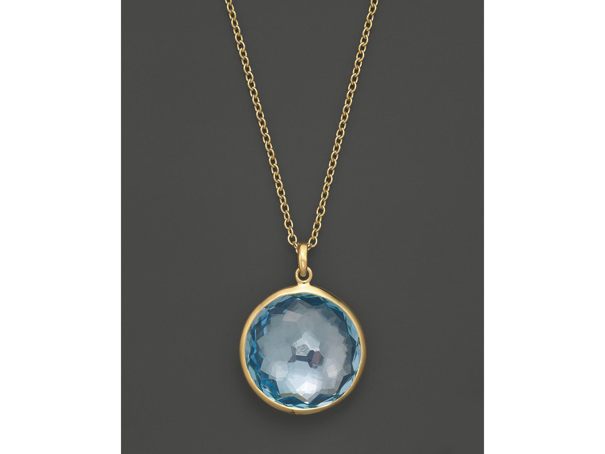 Lyst Ippolita 18k Yellow Gold Lollipop Pendant Necklace