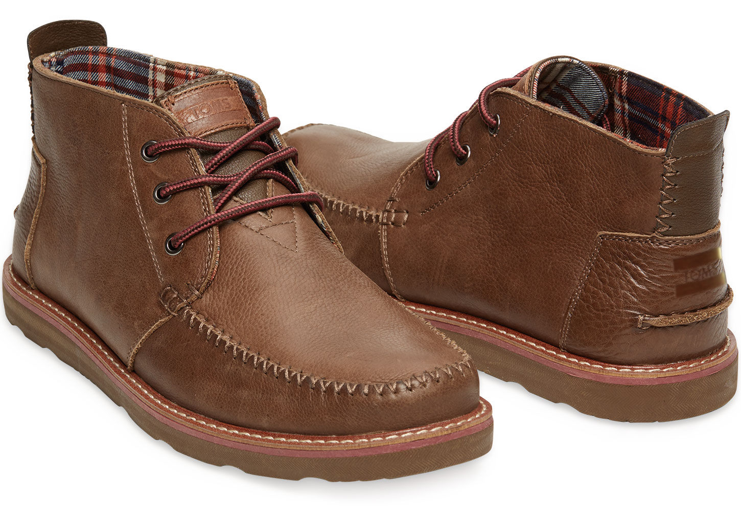 Toms Chocolate Leather Men'S Chukka Boots in Brown for Men | Lyst