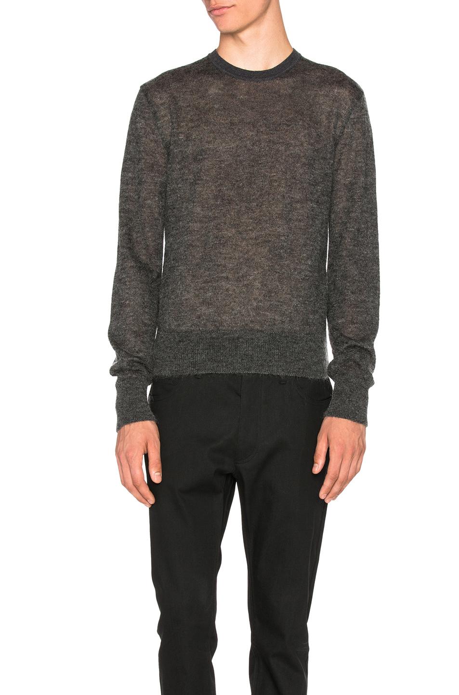 calvin klein jerd crewneck sweater in gray lyst. Black Bedroom Furniture Sets. Home Design Ideas