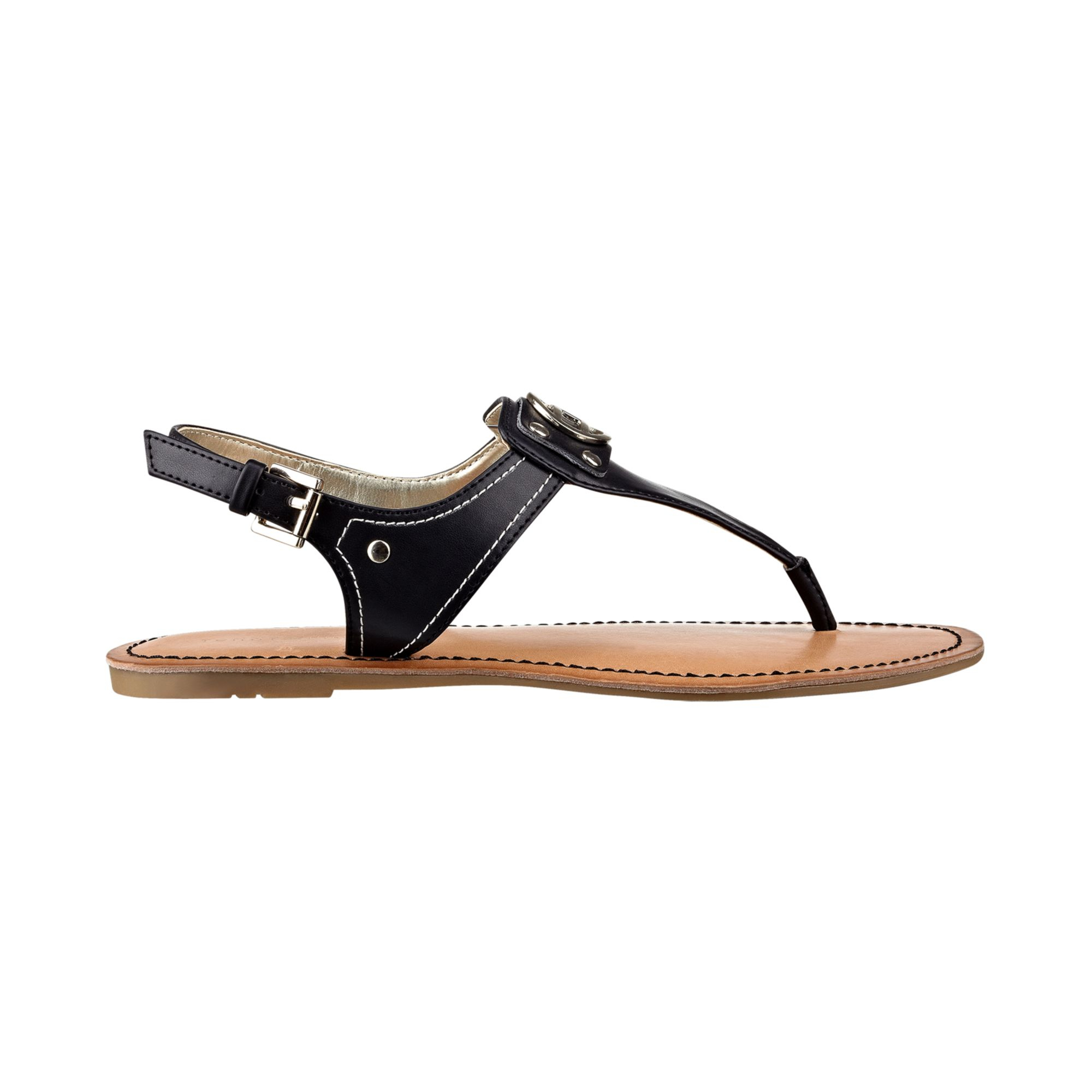 7602ce33ab7 Lyst - Tommy Hilfiger Womens Lolita Thong Sandals in Black
