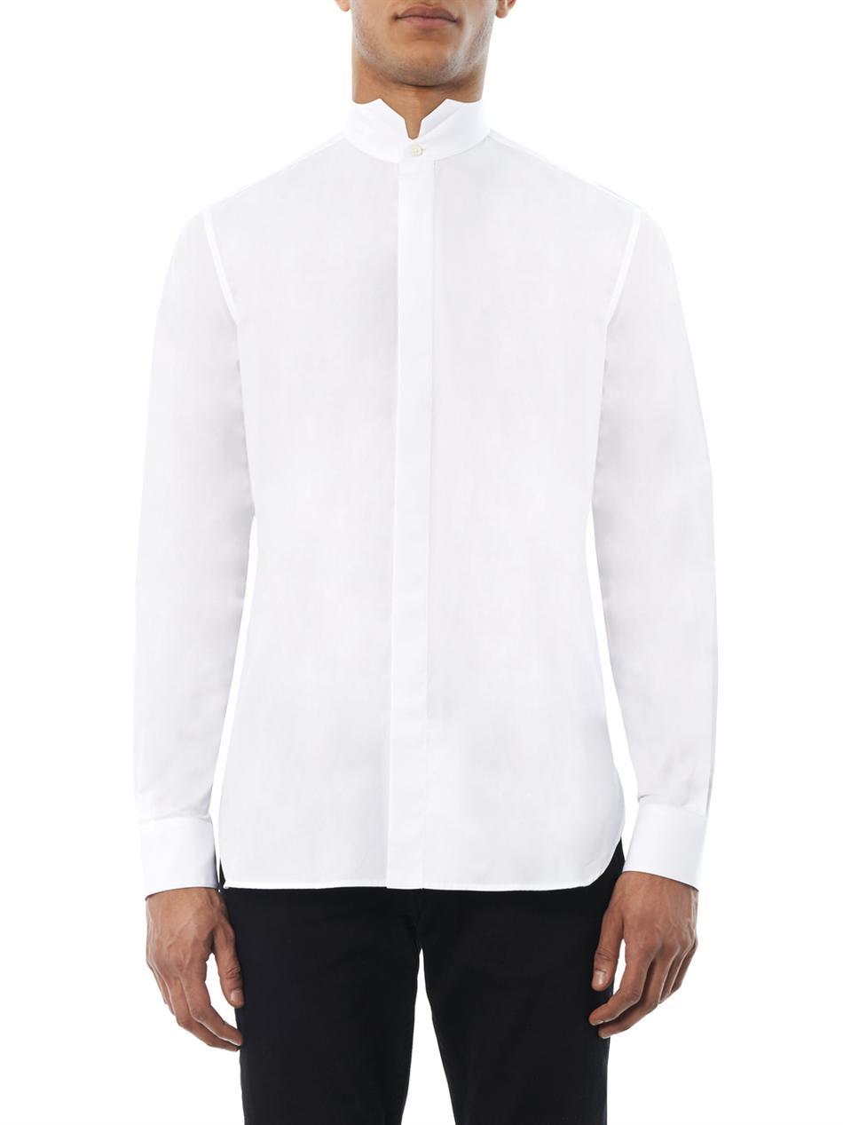 Lyst Saint Laurent Wingtip Collar Dinner Shirt In White