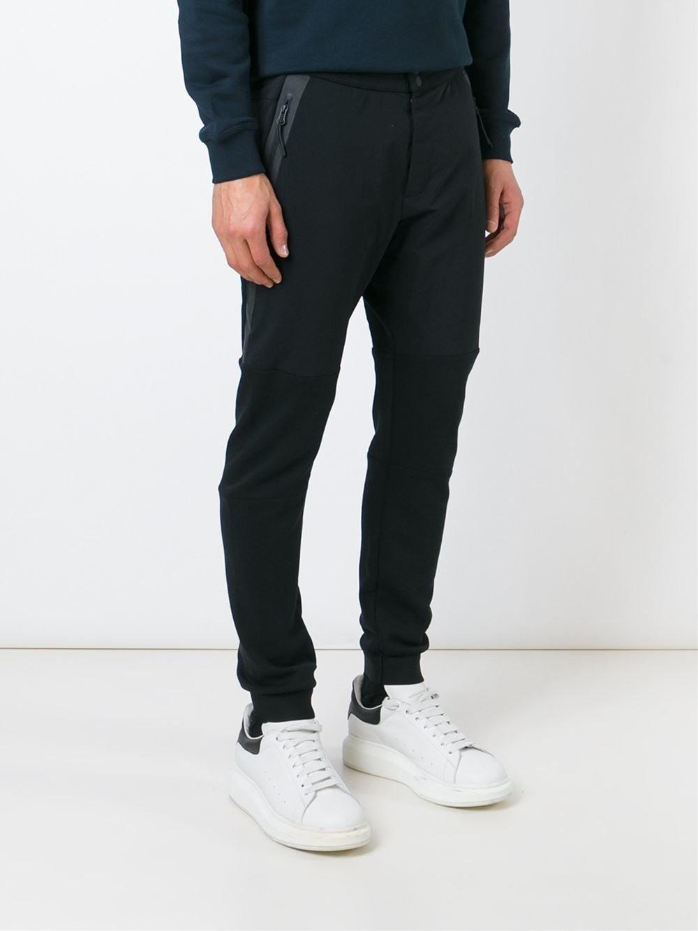 nike 39 tech fleece 39 track pants in black for men lyst. Black Bedroom Furniture Sets. Home Design Ideas