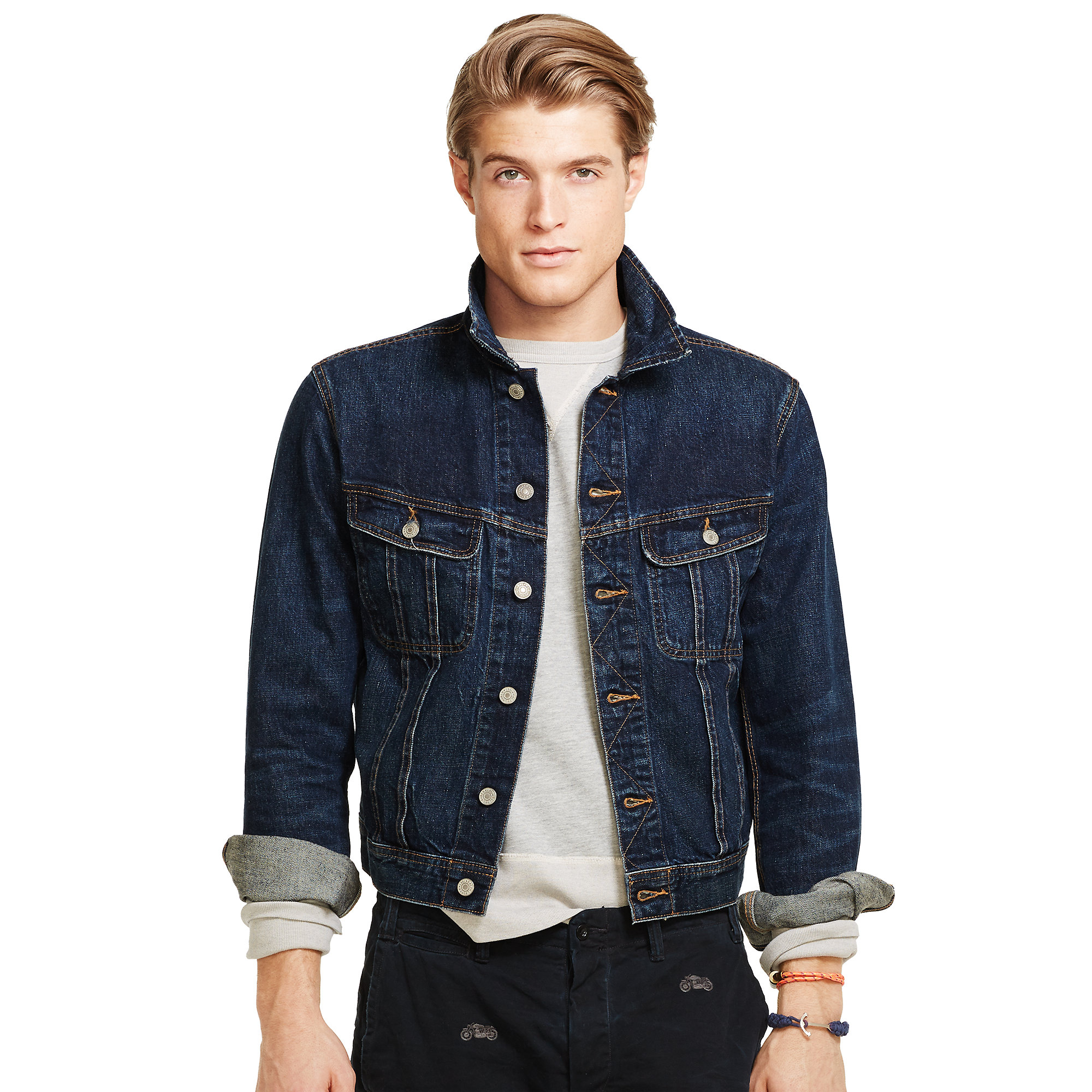 polo ralph lauren denim trucker jacket in blue for men lyst. Black Bedroom Furniture Sets. Home Design Ideas