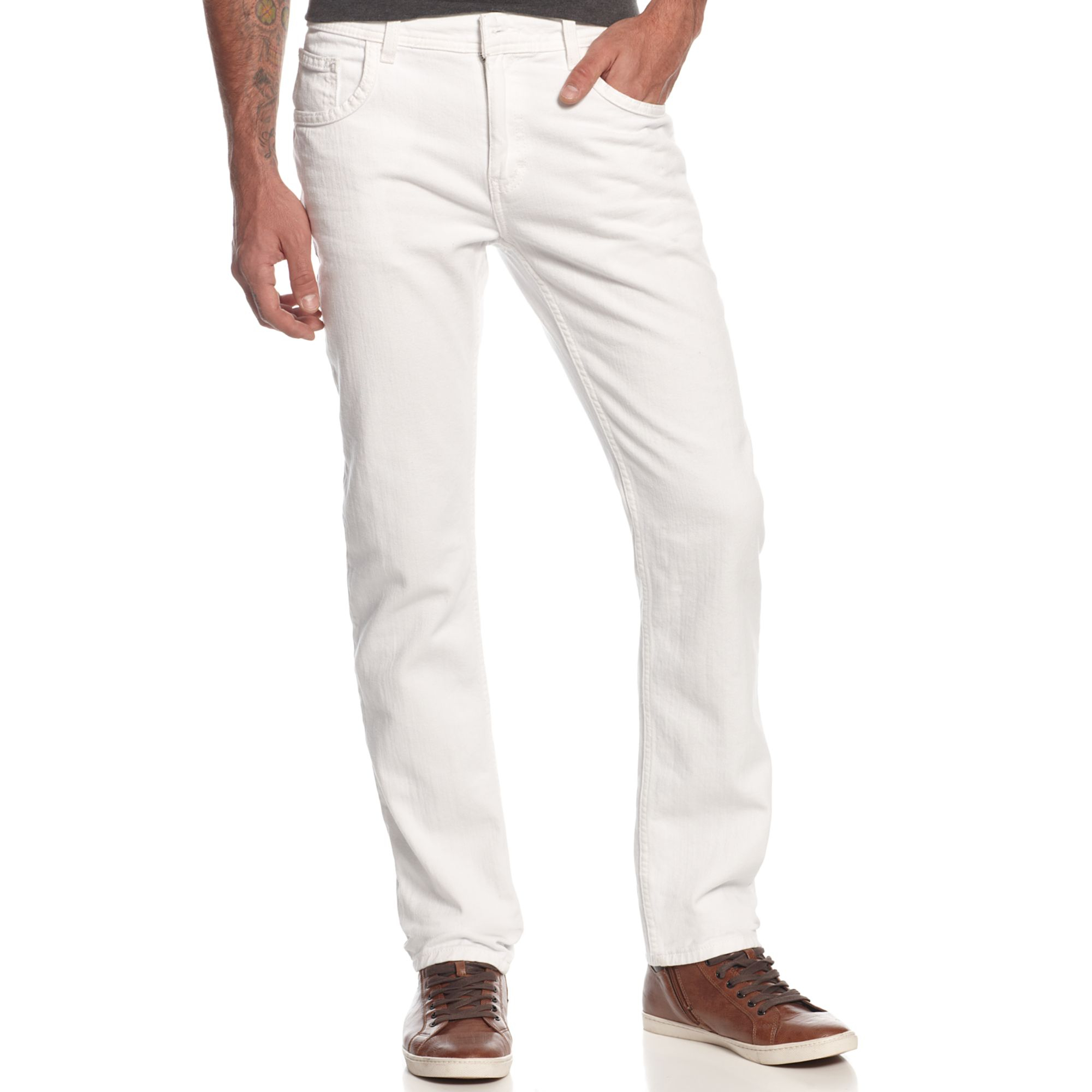 Inc international concepts Big Tall Jax Skinny Jeans in White for