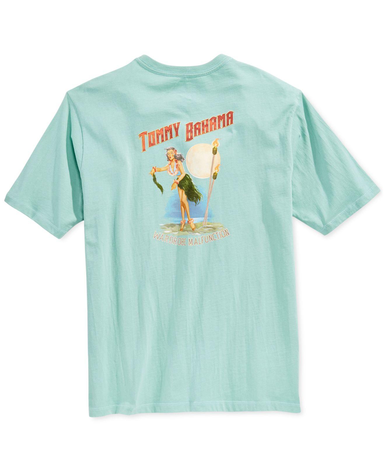 Tommy bahama wardrobe malfunction t shirt in blue for men for Custom tommy bahama shirts