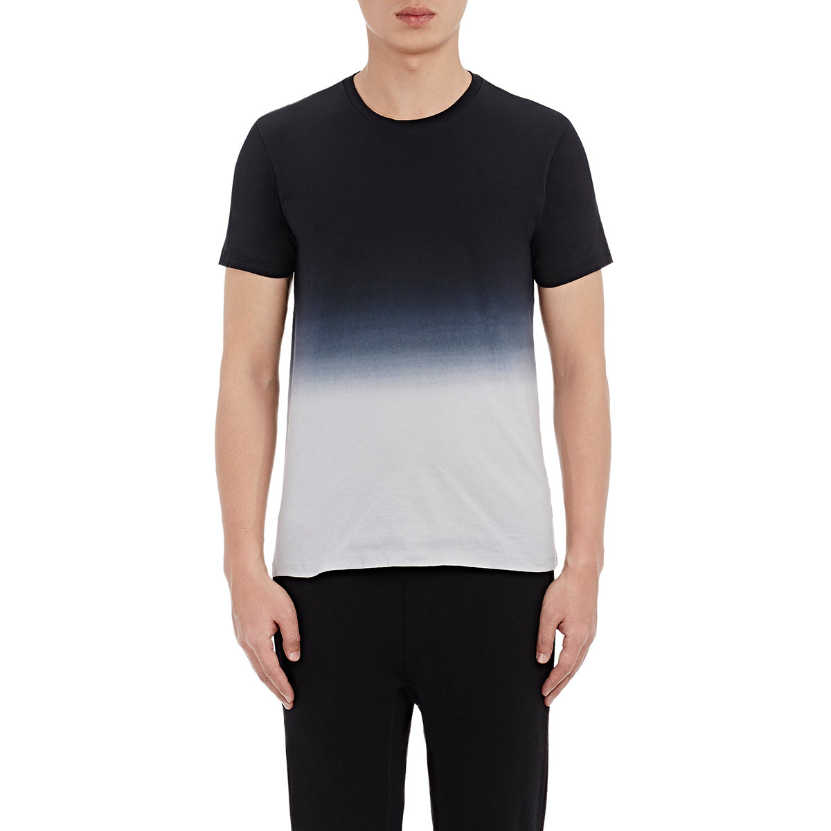 Barneys new york dip dyed t shirt in black for men lyst for New york and company dress shirts