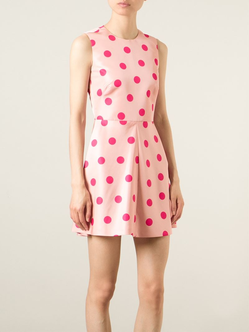 Gallery Previously Sold At Farfetch Women S Polka Dot Dresses Red