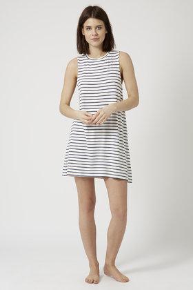 Lyst - TOPSHOP Breton Stripe Pj Dress in Blue 3796bf34a
