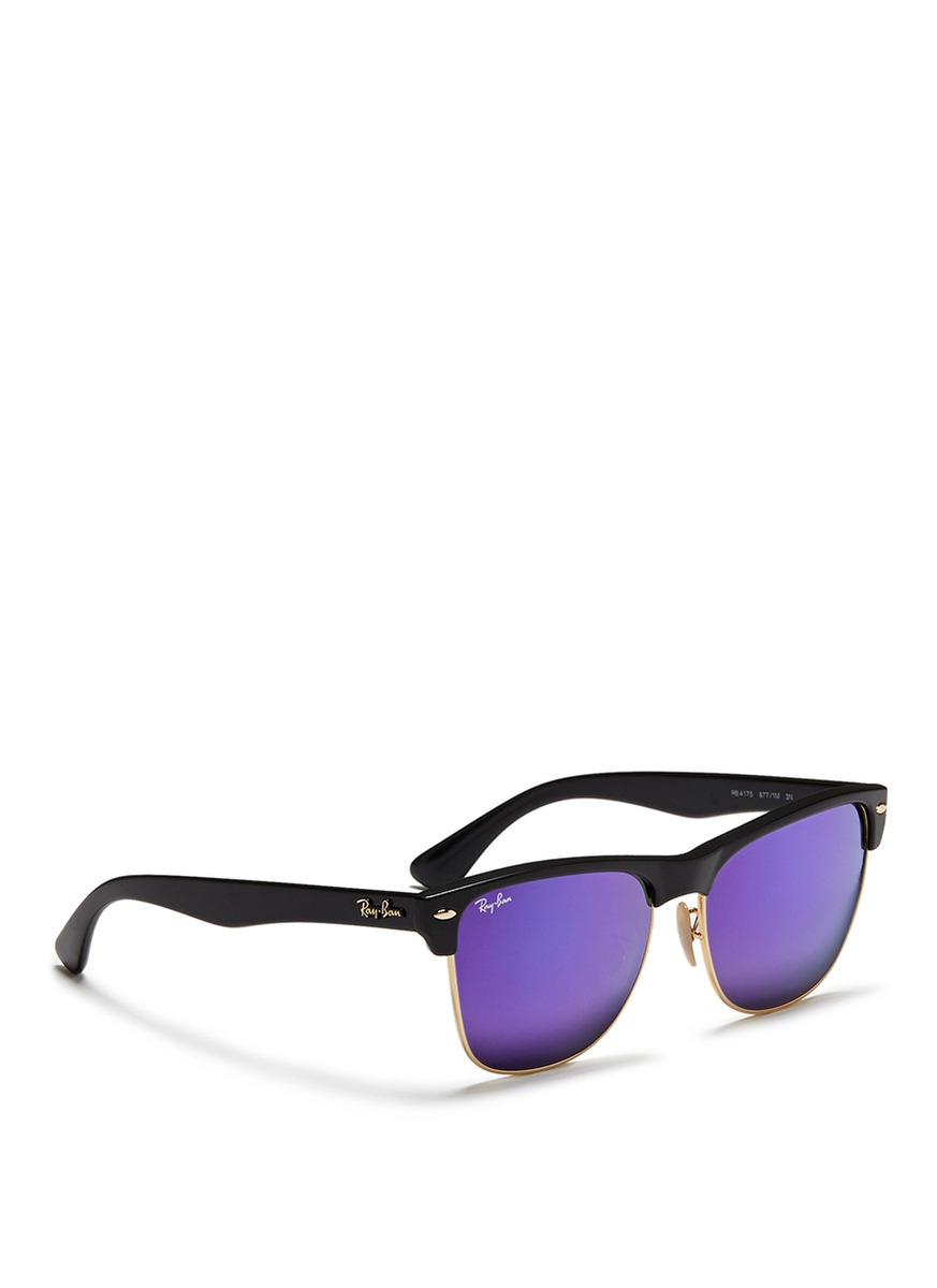 womens clubmaster ray bans  Ray-ban \u0027clubmaster Oversized\u0027 Matte Plastic Browline Mirror ...