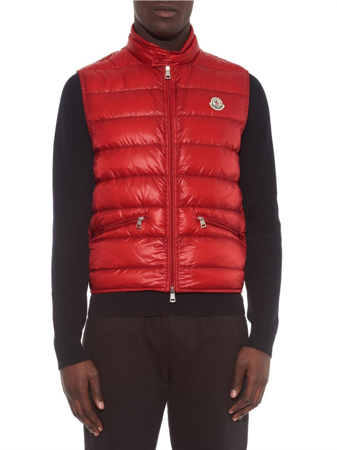 12f8fdc140ea Lyst - Moncler Gui Quilted Down Gilet in Red for Men
