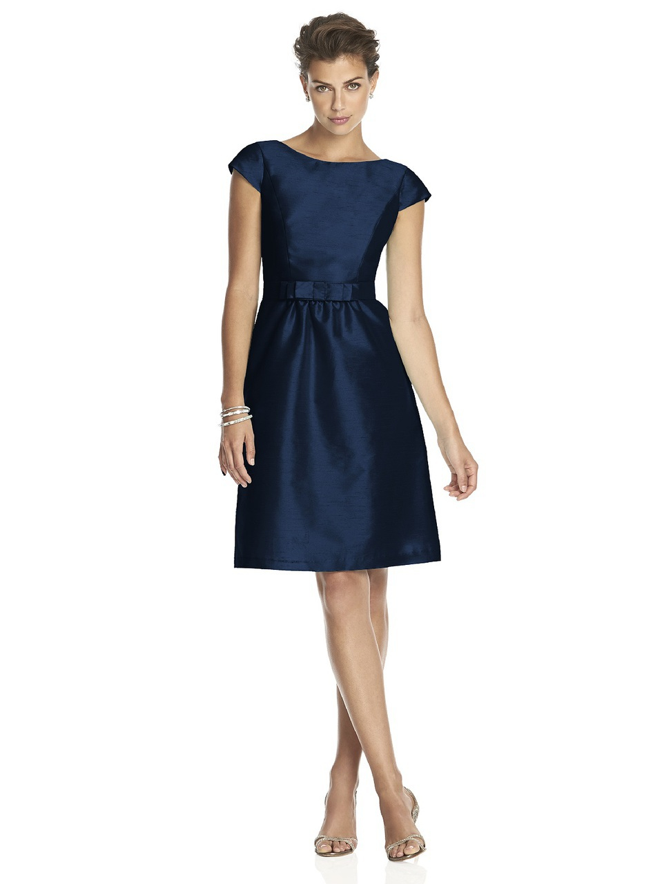Alfred sung d bridesmaid dress in midnight in blue lyst for Alfred dunner wedding dresses