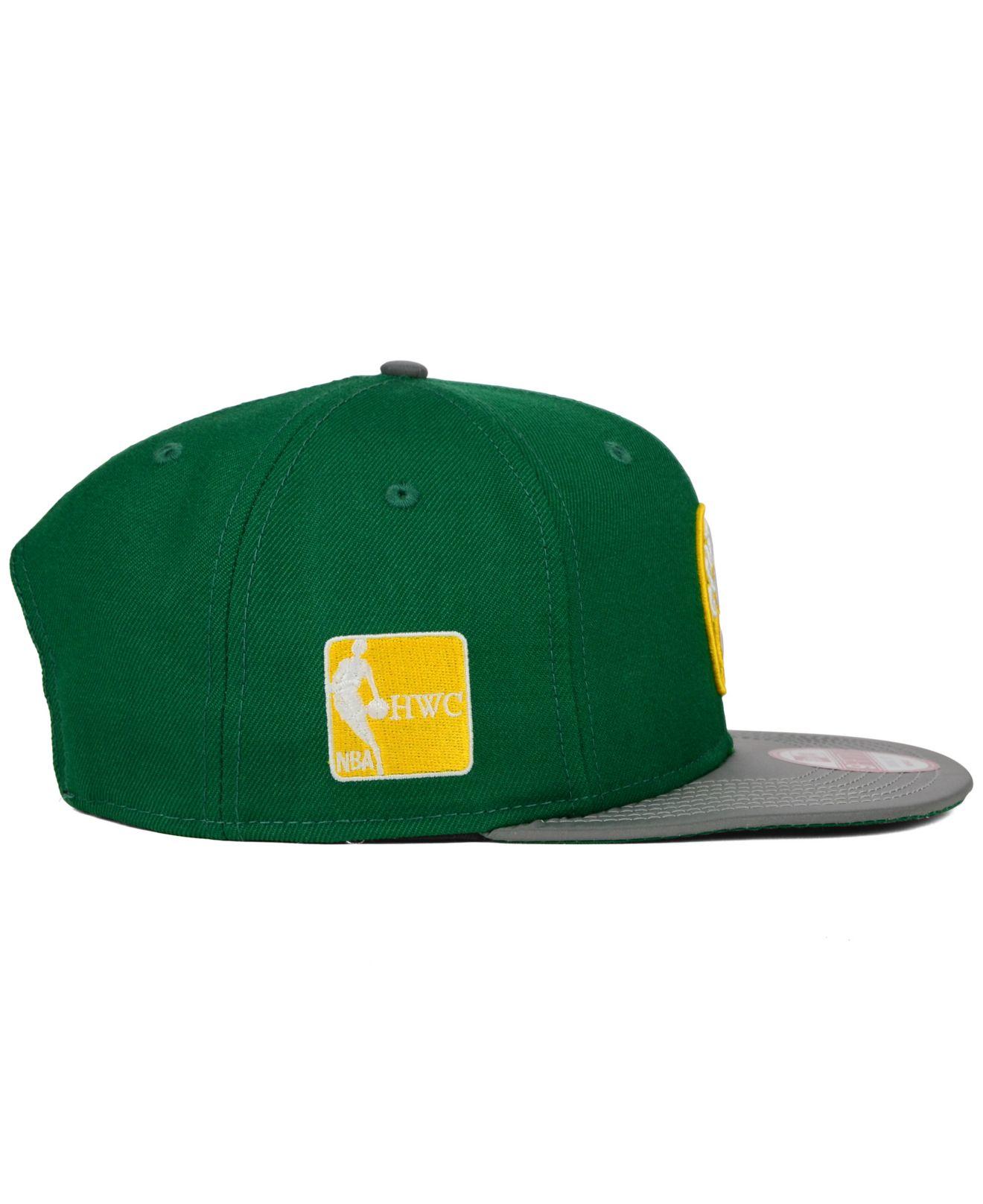 various colors 4f87a 2f23a ... new zealand lyst ktz boston celtics reflect 9fifty snapback cap in  green for men c0225 c1575