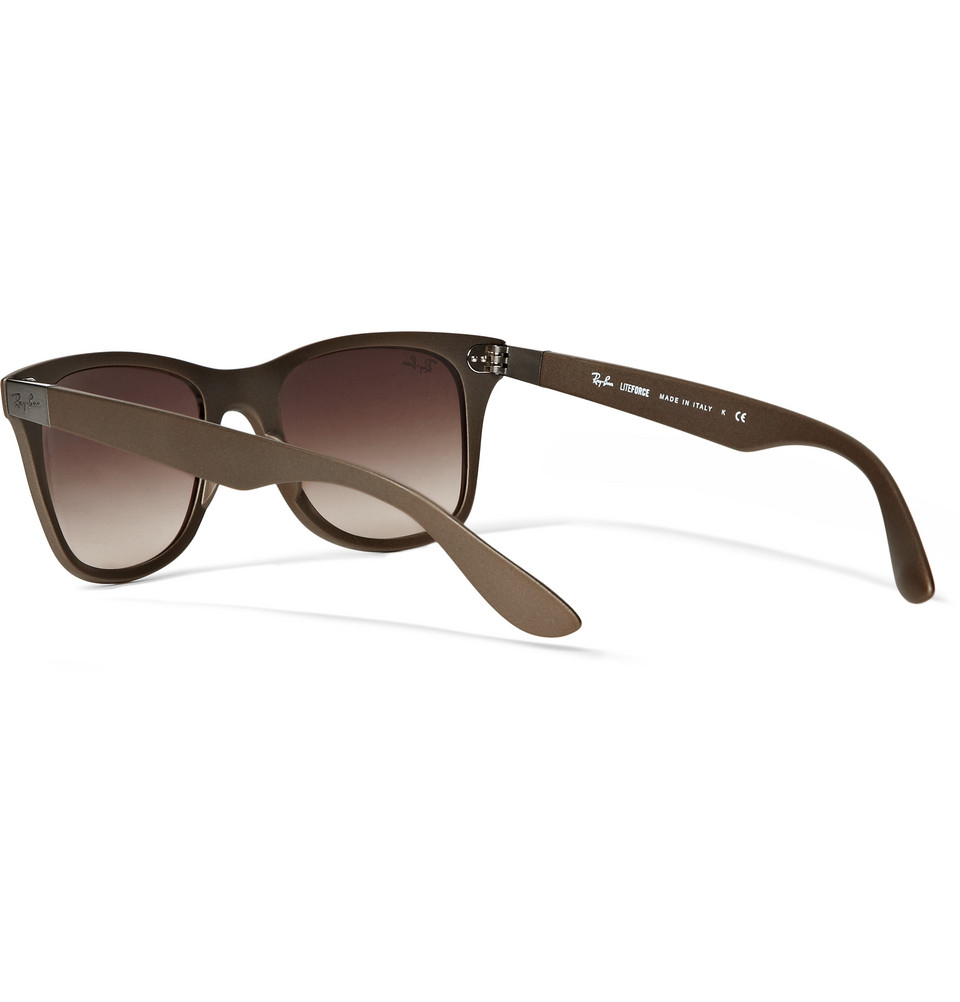 Ray-Ban Wayfarer Liteforce Acetate Sunglasses in Brown for ...