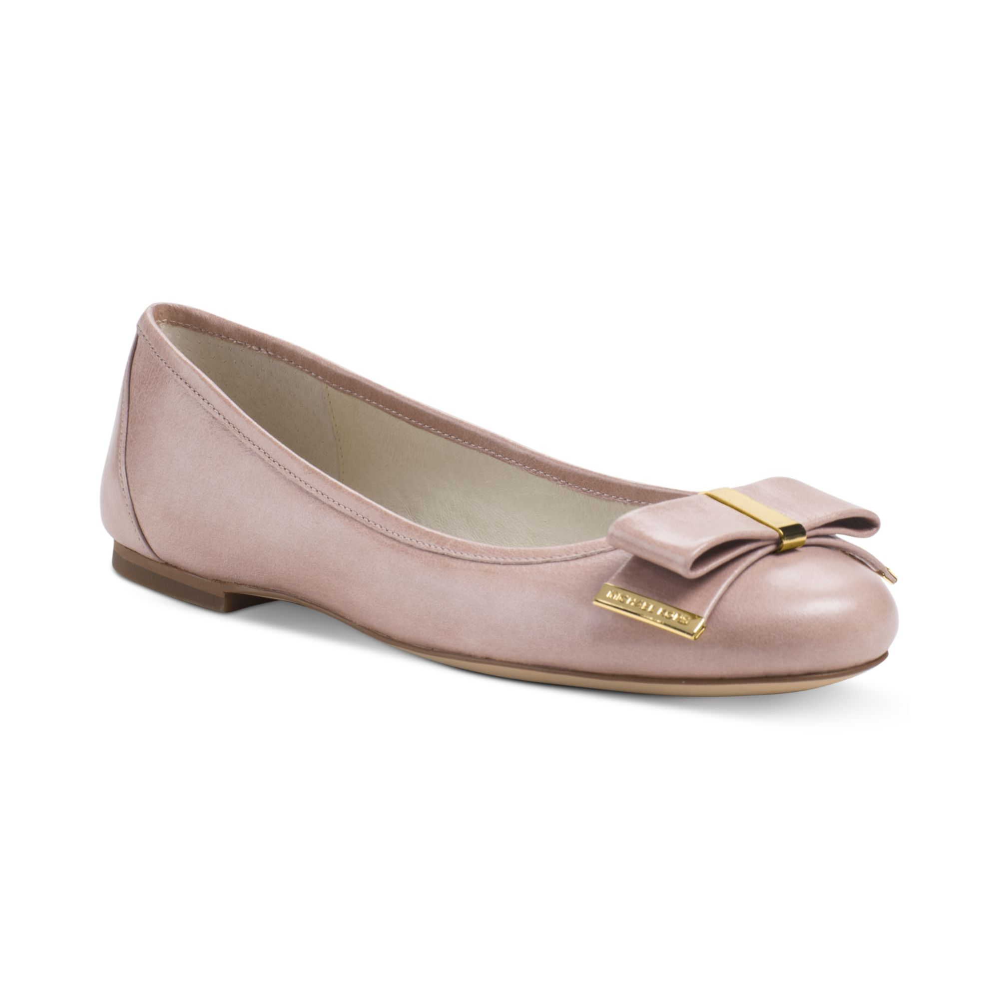 michael kors michael kiera ballet flats in beige dark nude lyst. Black Bedroom Furniture Sets. Home Design Ideas