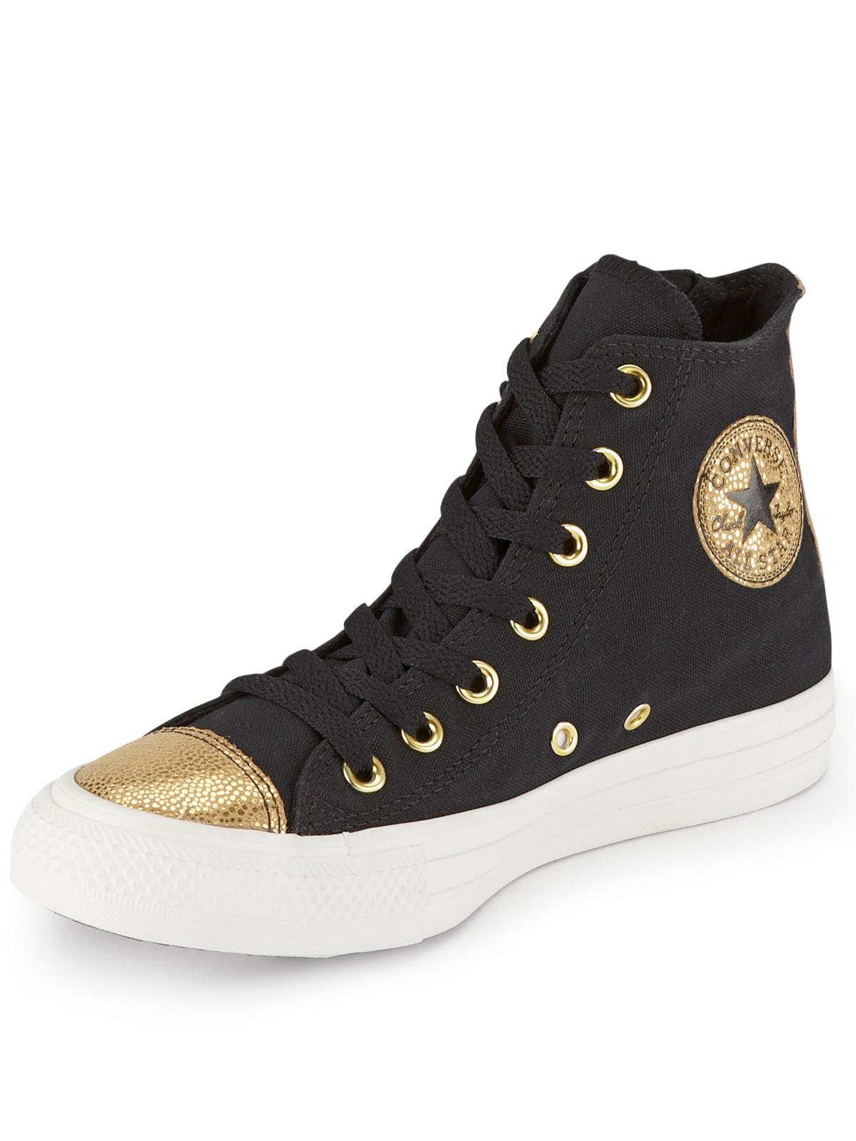 Converse Chuck Taylor All Star Side Zip Sparkle Toe Cap