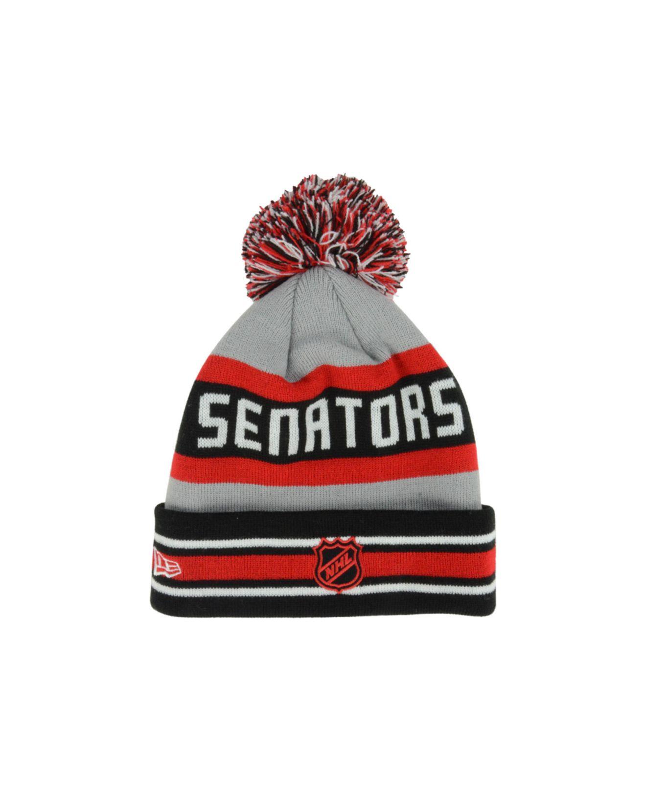 4f7b03e986b ... clearance lyst ktz ottawa senators jake pom knit hat in gray for men  dda56 1787e