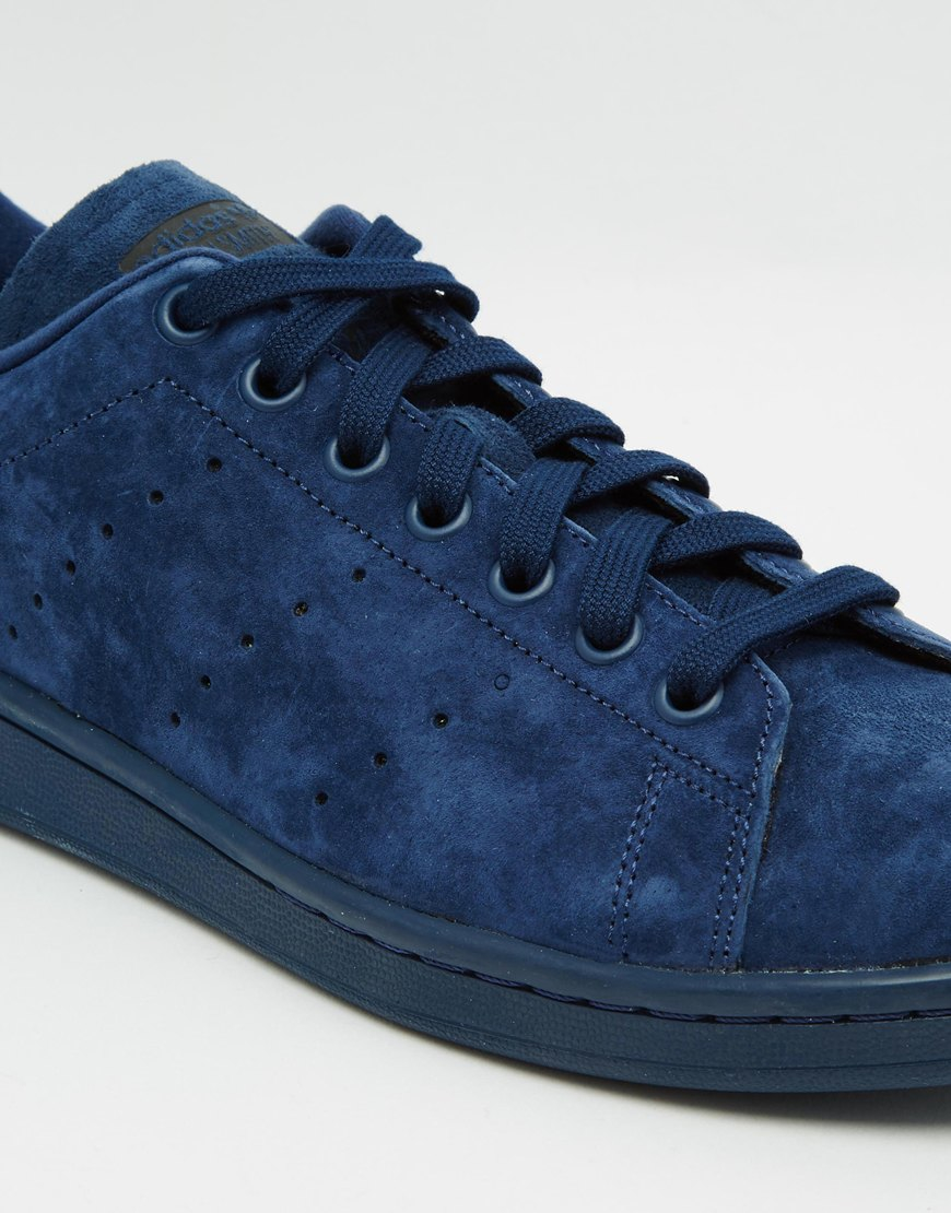 Lyst - adidas Originals Stan Smith Suede Trainers in Blue for Men 27d8503ad