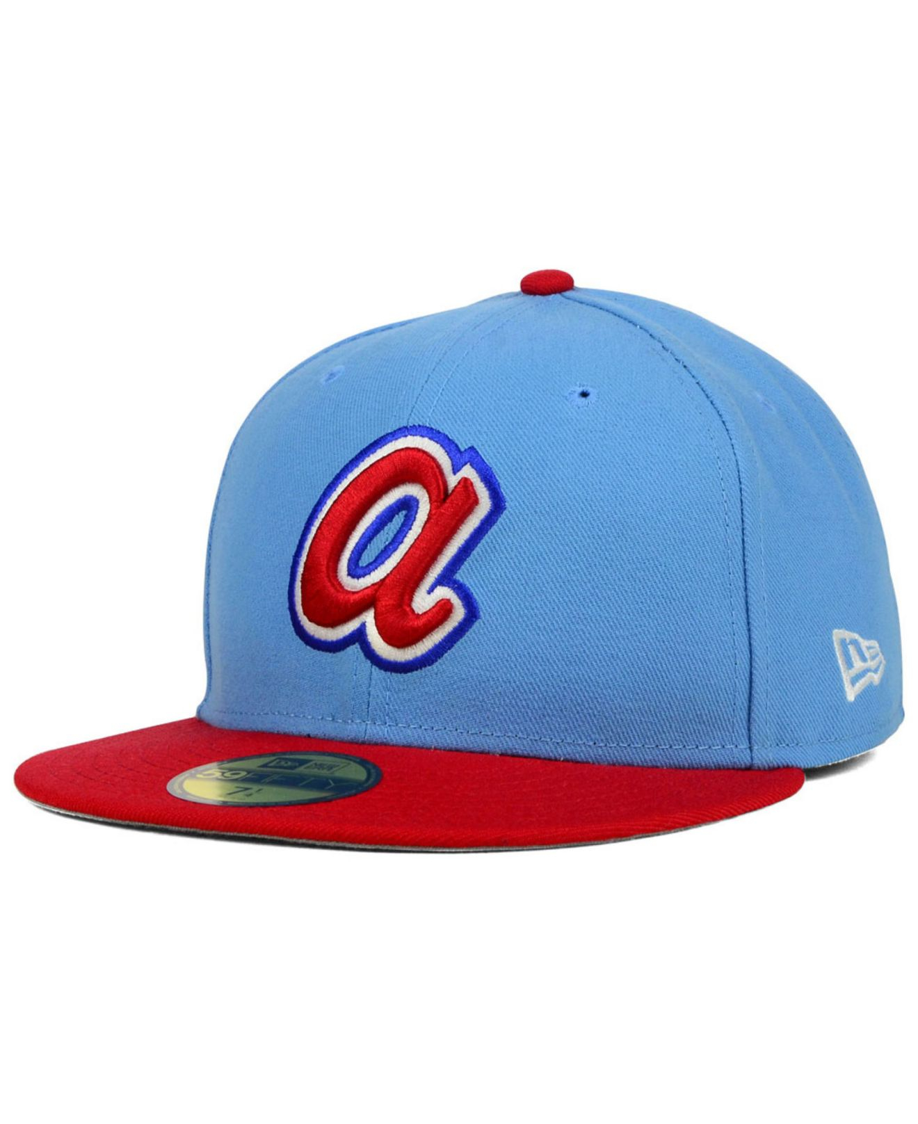 online store 01fc9 248ec ... spain lyst ktz atlanta braves cooperstown 2 tone 59fifty cap in blue  for men b522d 39571