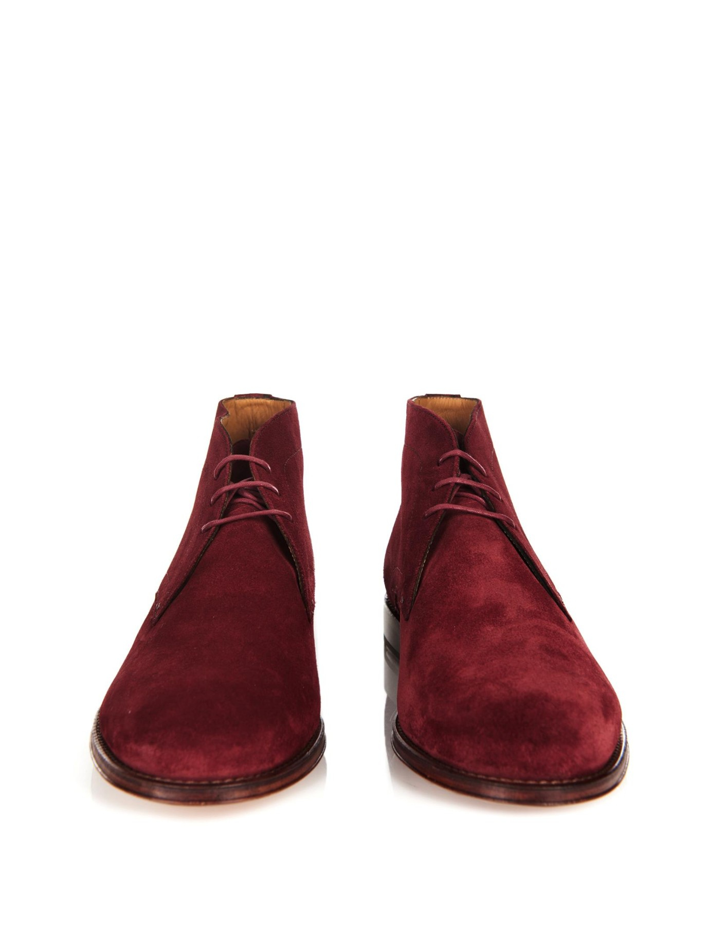 paul smith suede desert boots in purple for lyst