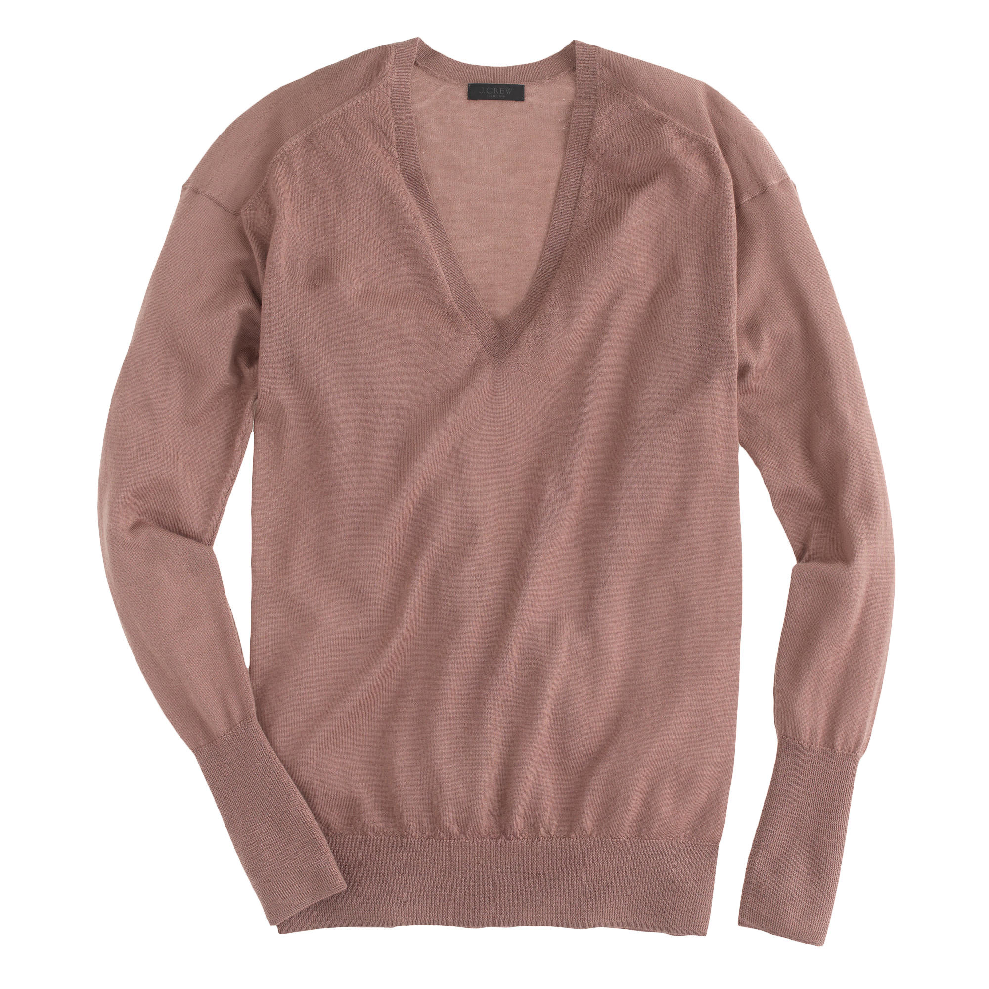 J.crew Collection Featherweight Cashmere V-neck Boyfriend Sweater ...