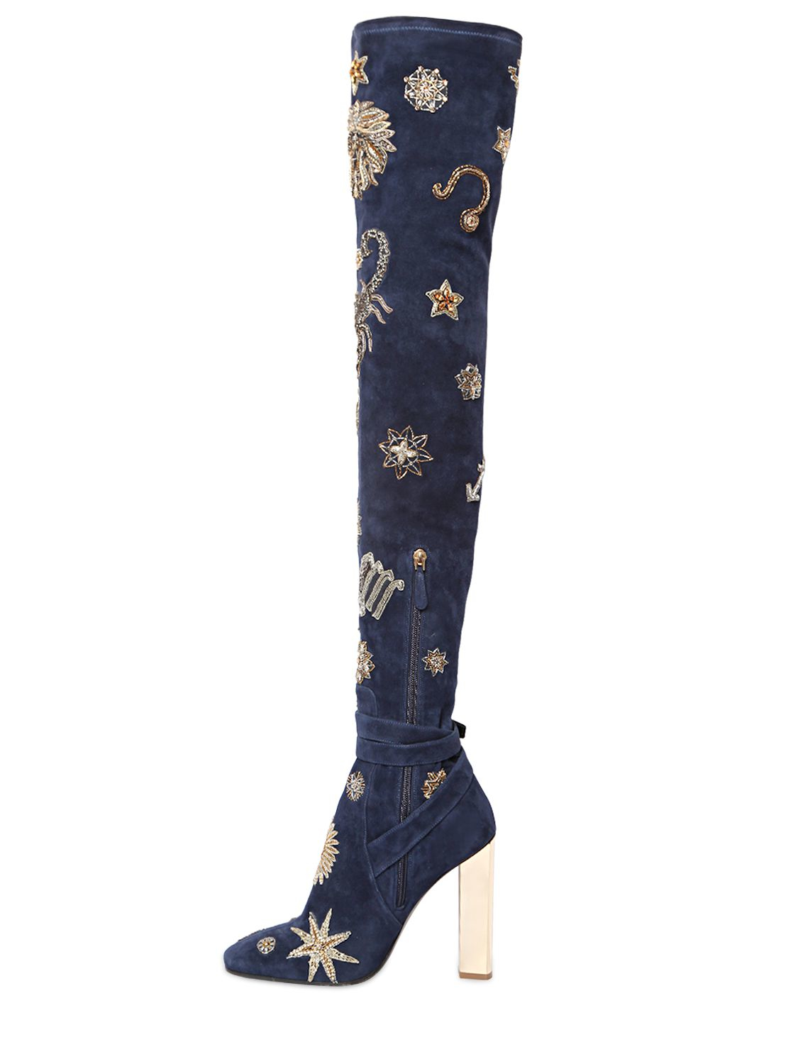 emilio pucci 110mm zodiac suede the knee boots in