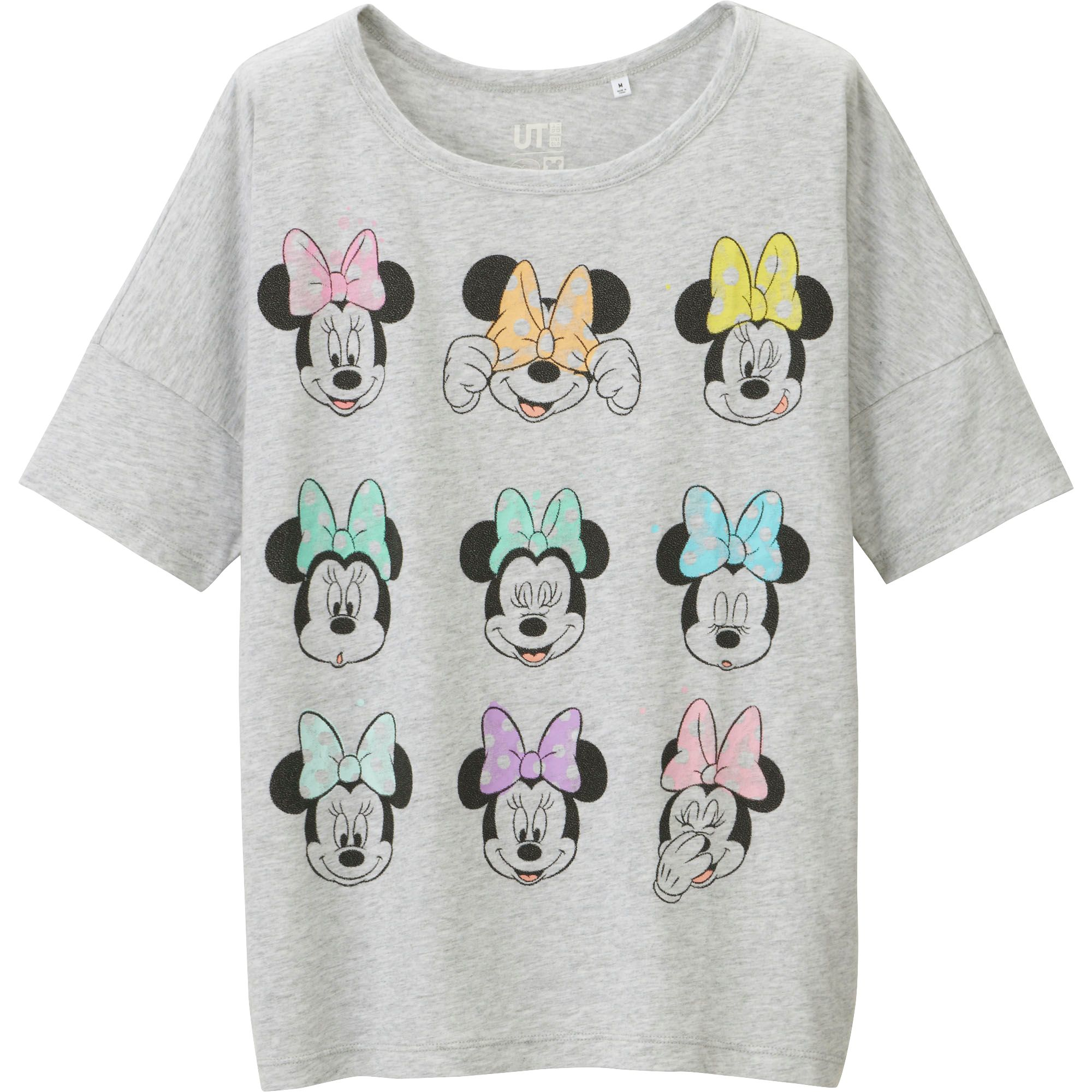 ccf08a99b Lyst - Uniqlo Women Disney Project Short Sleeve Graphic T-shirt in Gray