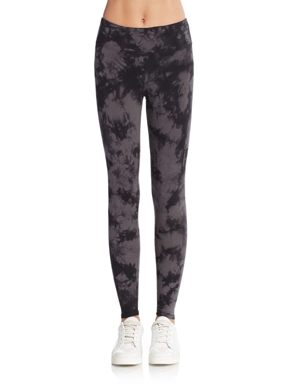 calvin klein tie dye leggings in black lyst. Black Bedroom Furniture Sets. Home Design Ideas