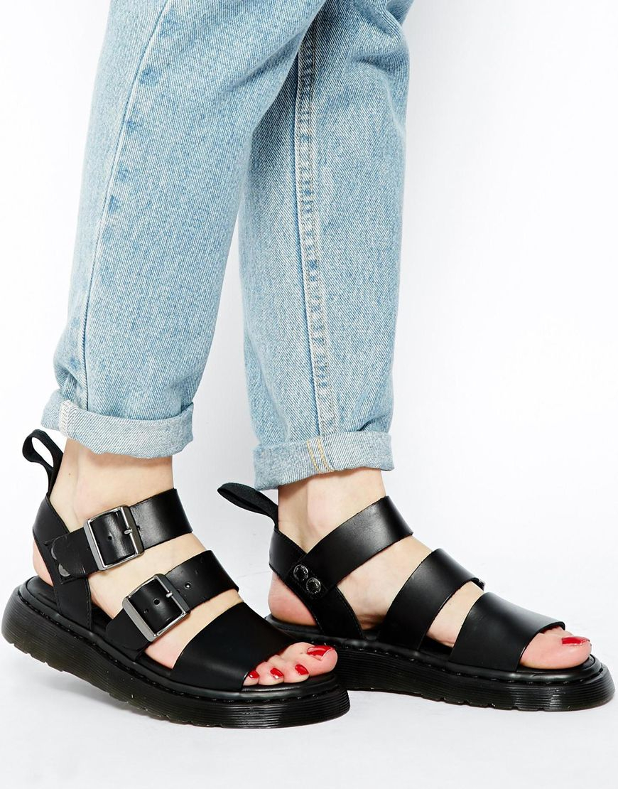 8a76356e294 Lyst - Dr. Martens Shore Reinvented Gryphon Strap Sandals in Black