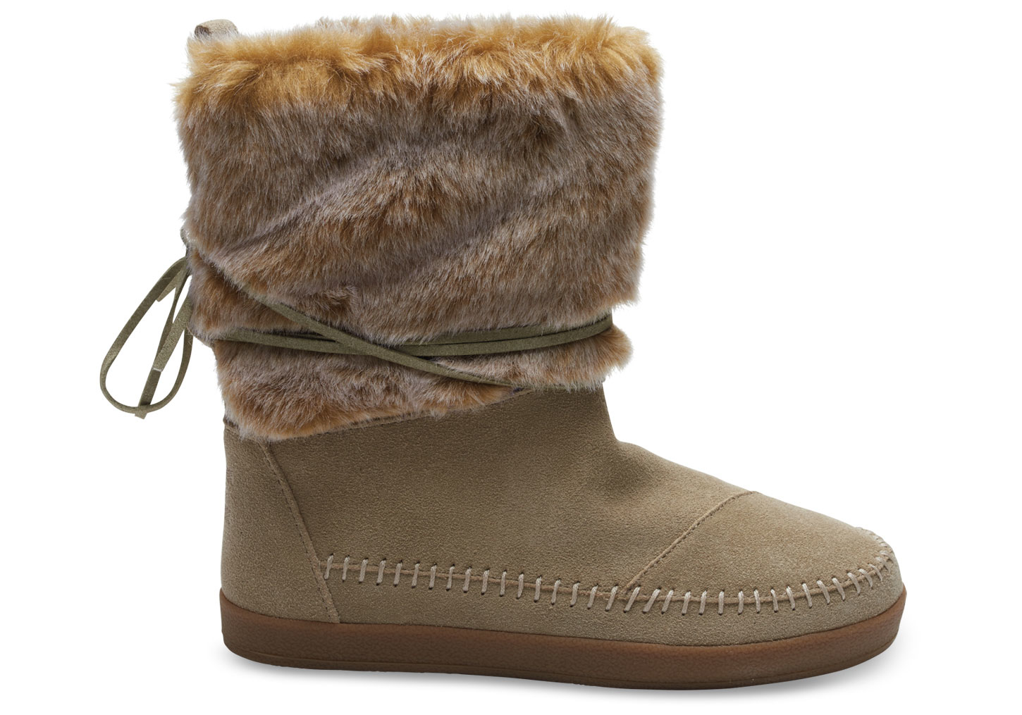 Toms Oxford Tan Suede Faux Hair Women S Nepal Boots In