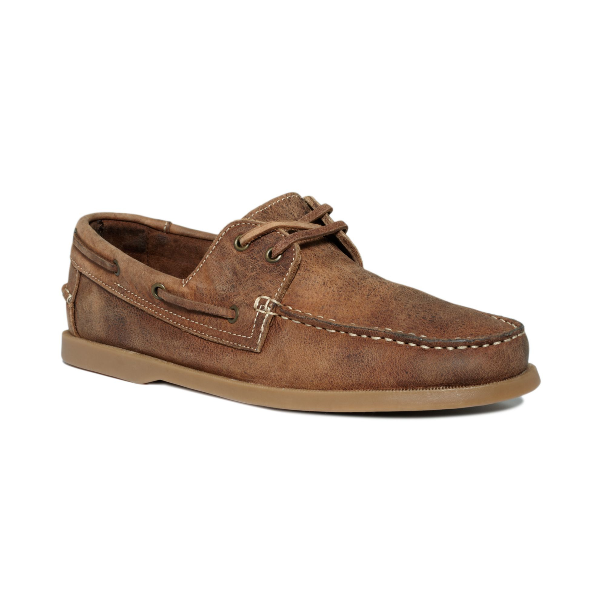 bed stu uncle frank boat shoes in brown for men | lyst