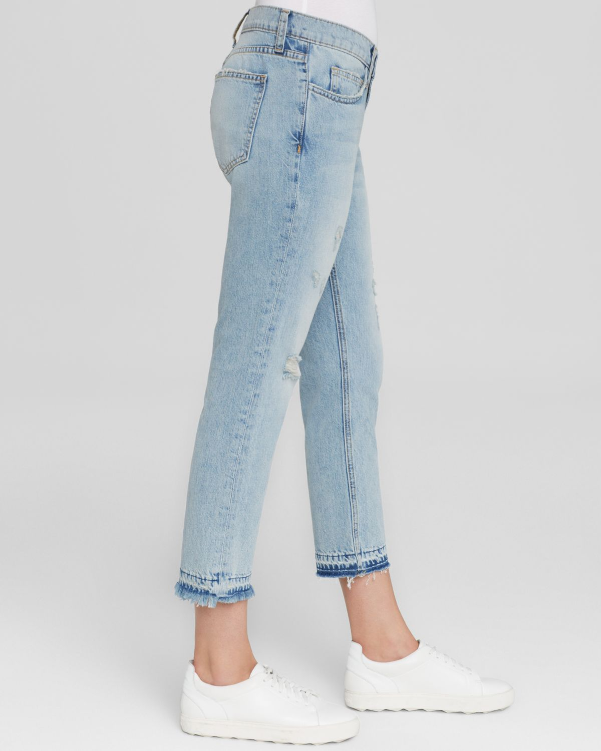 808f16b834799e Current/Elliott Jeans - The Cropped Straight In Sealine Destroy in ...