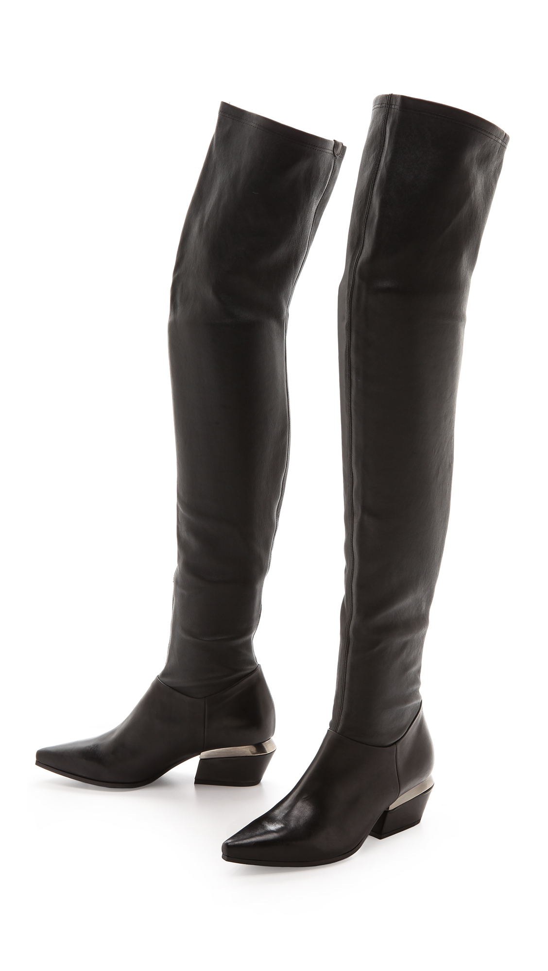 vic mati prometeo erse over the knee boots black in black lyst. Black Bedroom Furniture Sets. Home Design Ideas