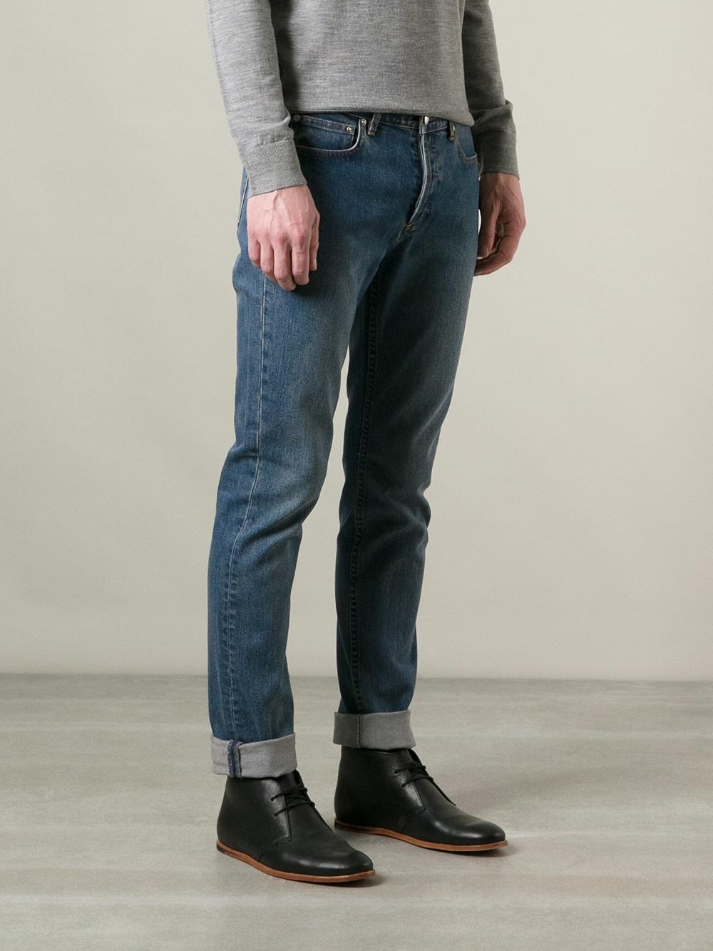 a p c 39 petit new standard 39 jeans in blue for men lyst. Black Bedroom Furniture Sets. Home Design Ideas