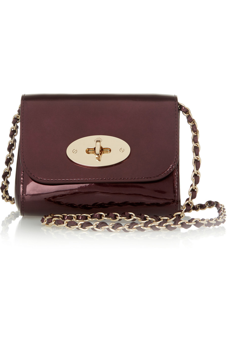 ... denmark mulberry lily mini metallic leather shoulder bag in red lyst  bc347 90e42 ... 56ac5aed5351c