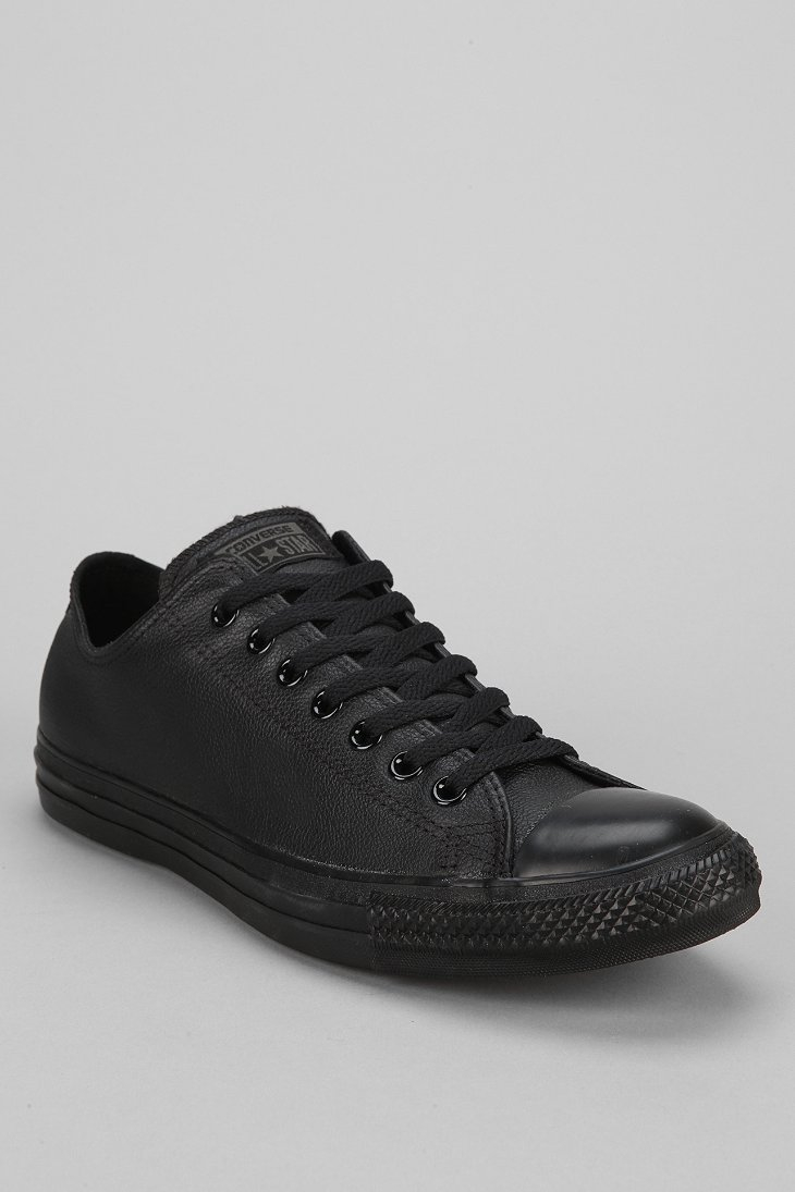 Lyst - Converse Chuck Taylor All Star Leather Low-Top Men S Sneaker ... 91688c61fdbd