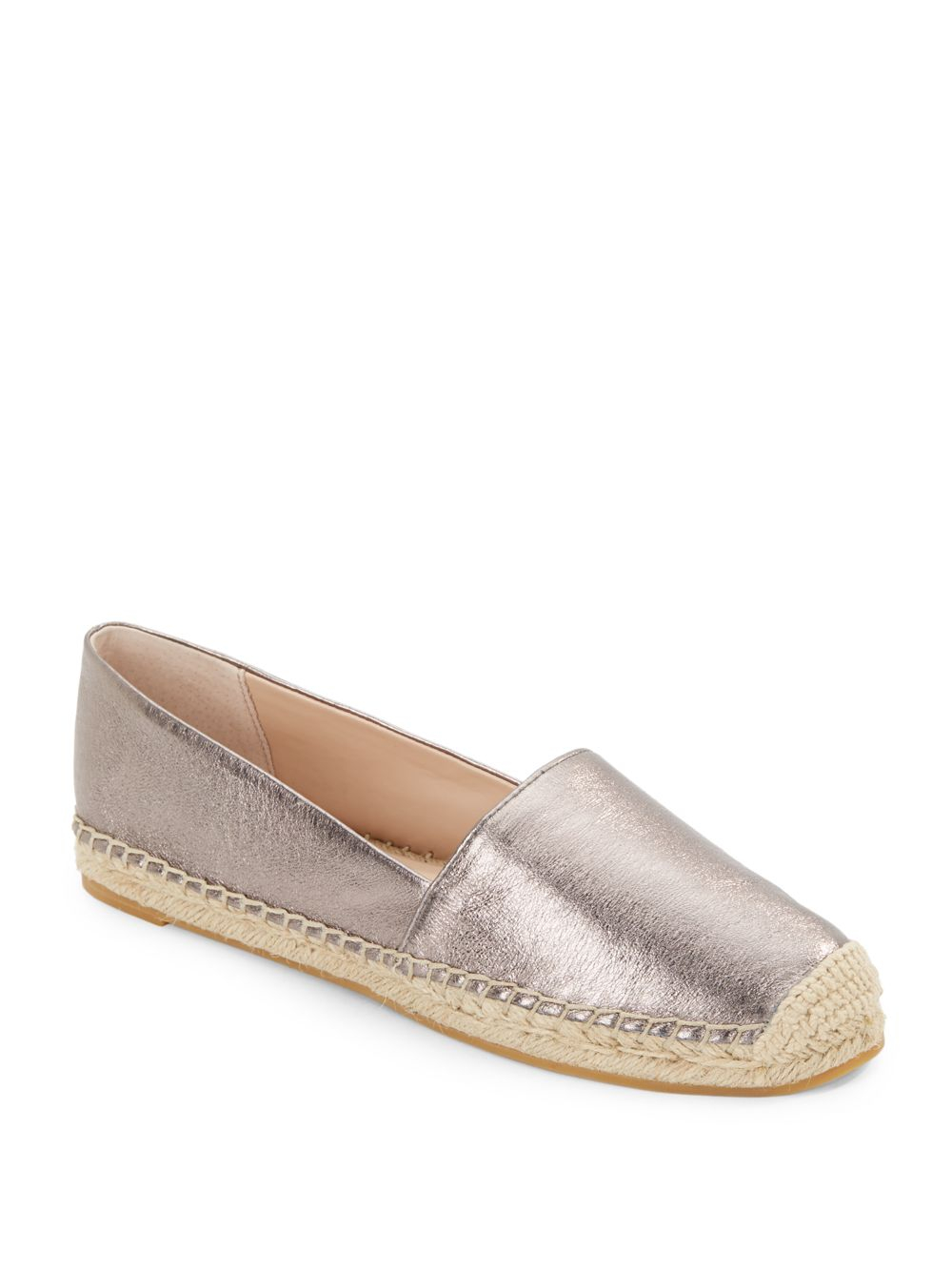 a6bd125139a French Connection Sammy Metallic Leather Espadrille Flats in ...